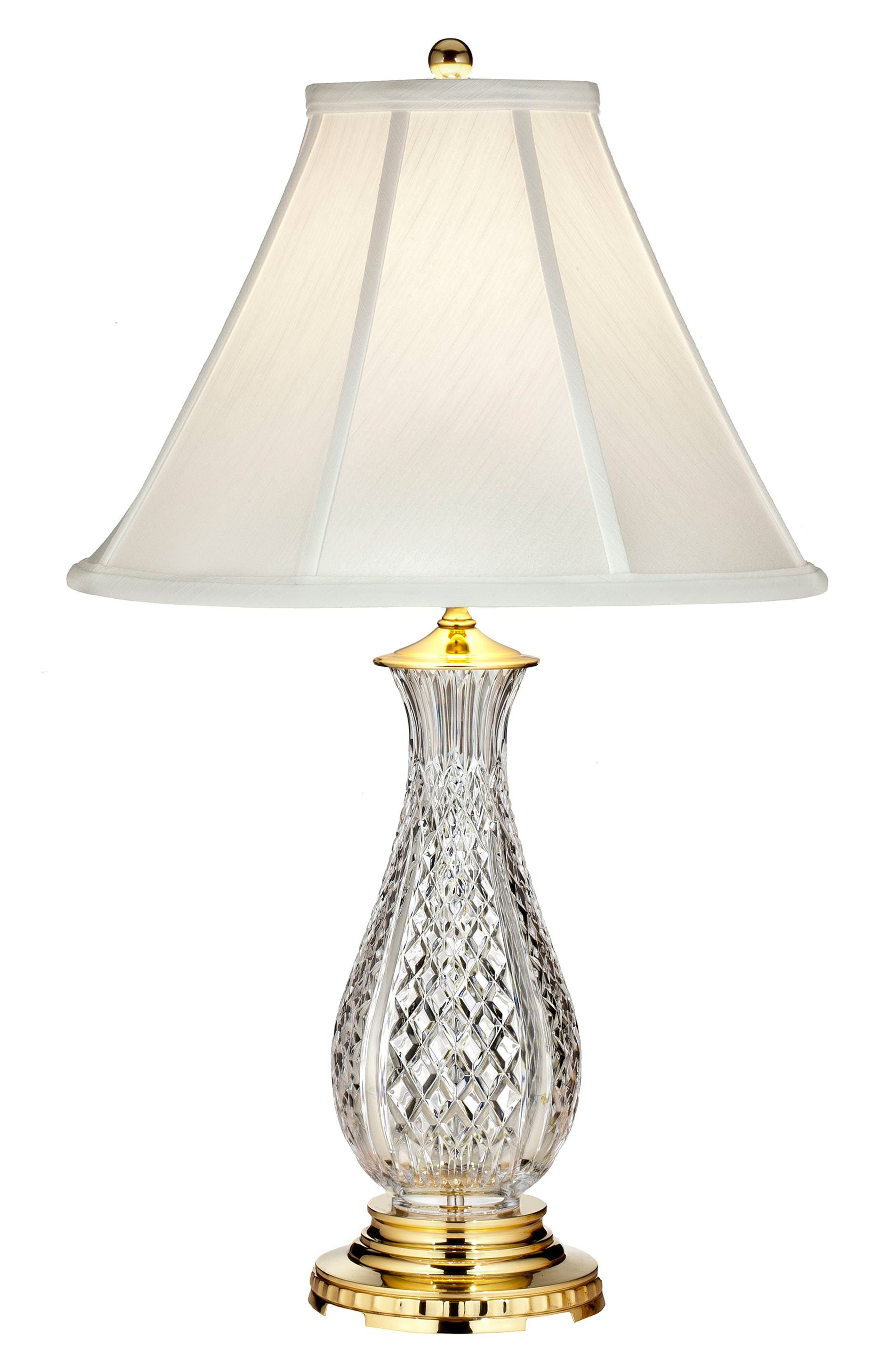 WATERFORD Ashbrooke Crystal Table Lamp, Main, color, CRYSTAL