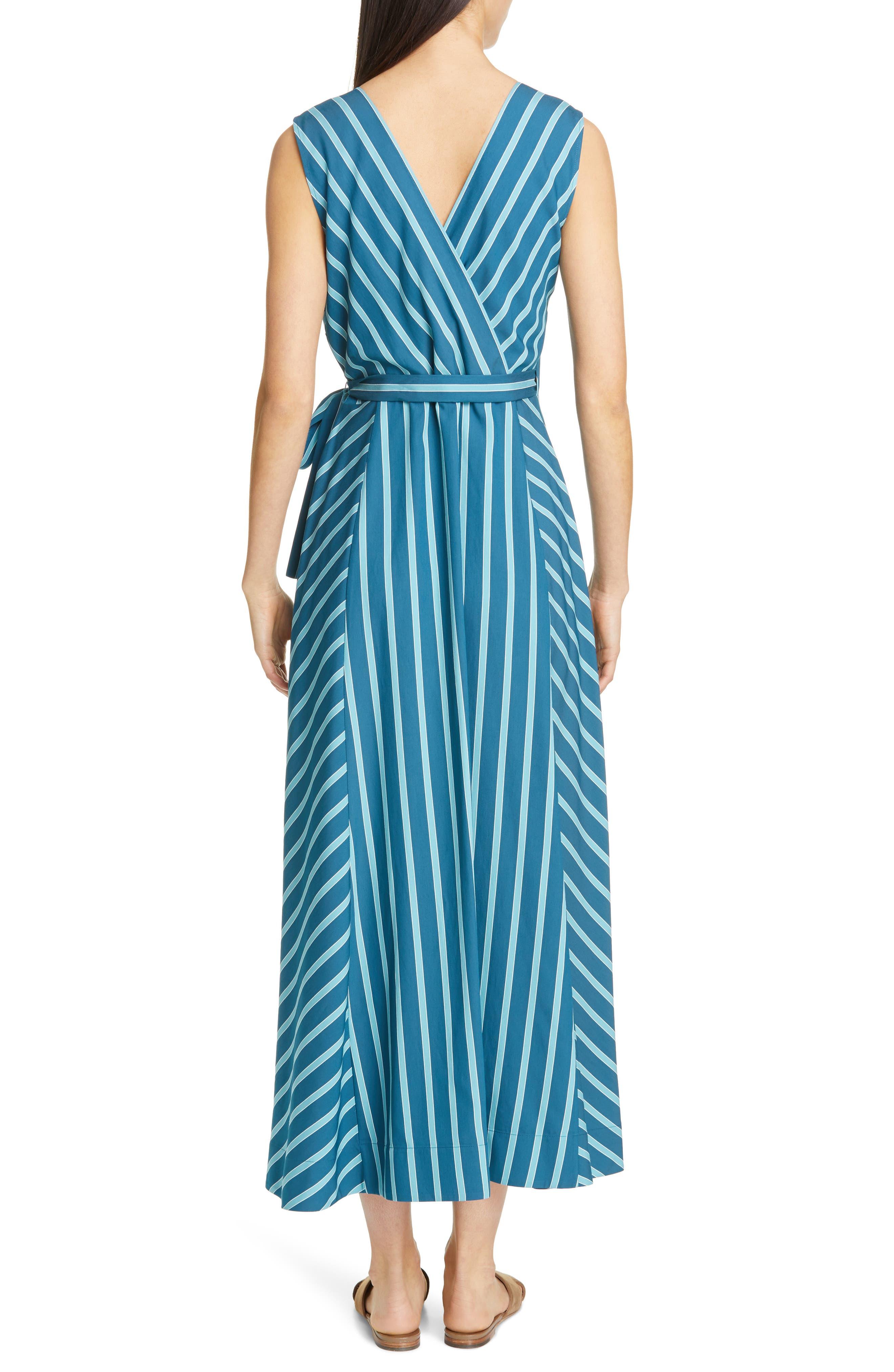 LAFAYETTE 148 NEW YORK, Siri Wrap Dress, Alternate thumbnail 2, color, PACIFIC MULTI