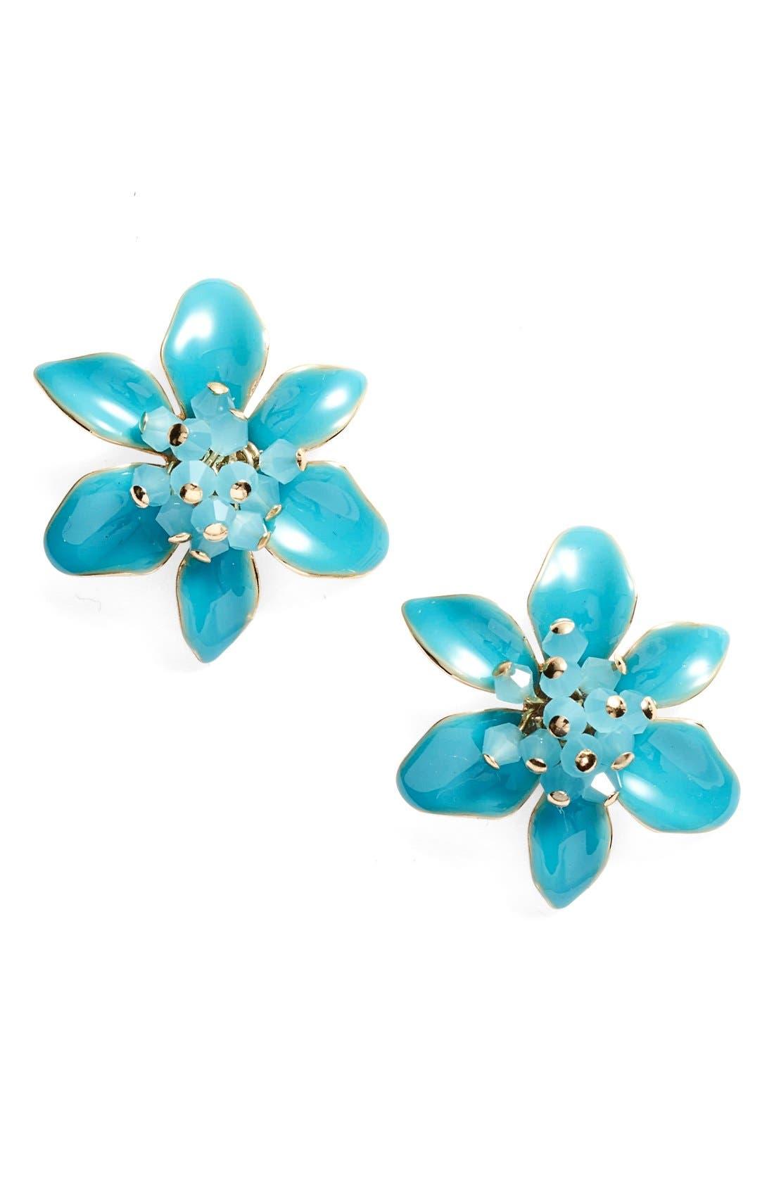 KATE SPADE NEW YORK, 'lovely lilies' stud earrings, Main thumbnail 1, color, 440