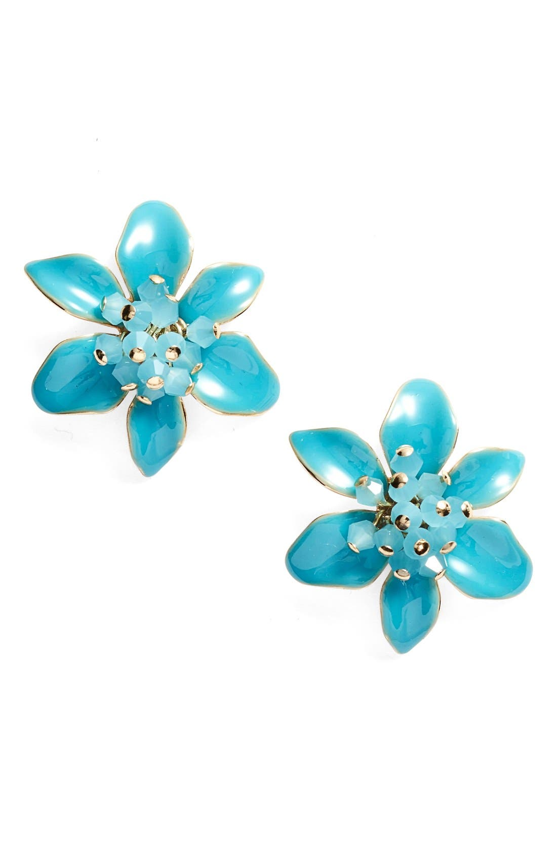 KATE SPADE NEW YORK 'lovely lilies' stud earrings, Main, color, 440