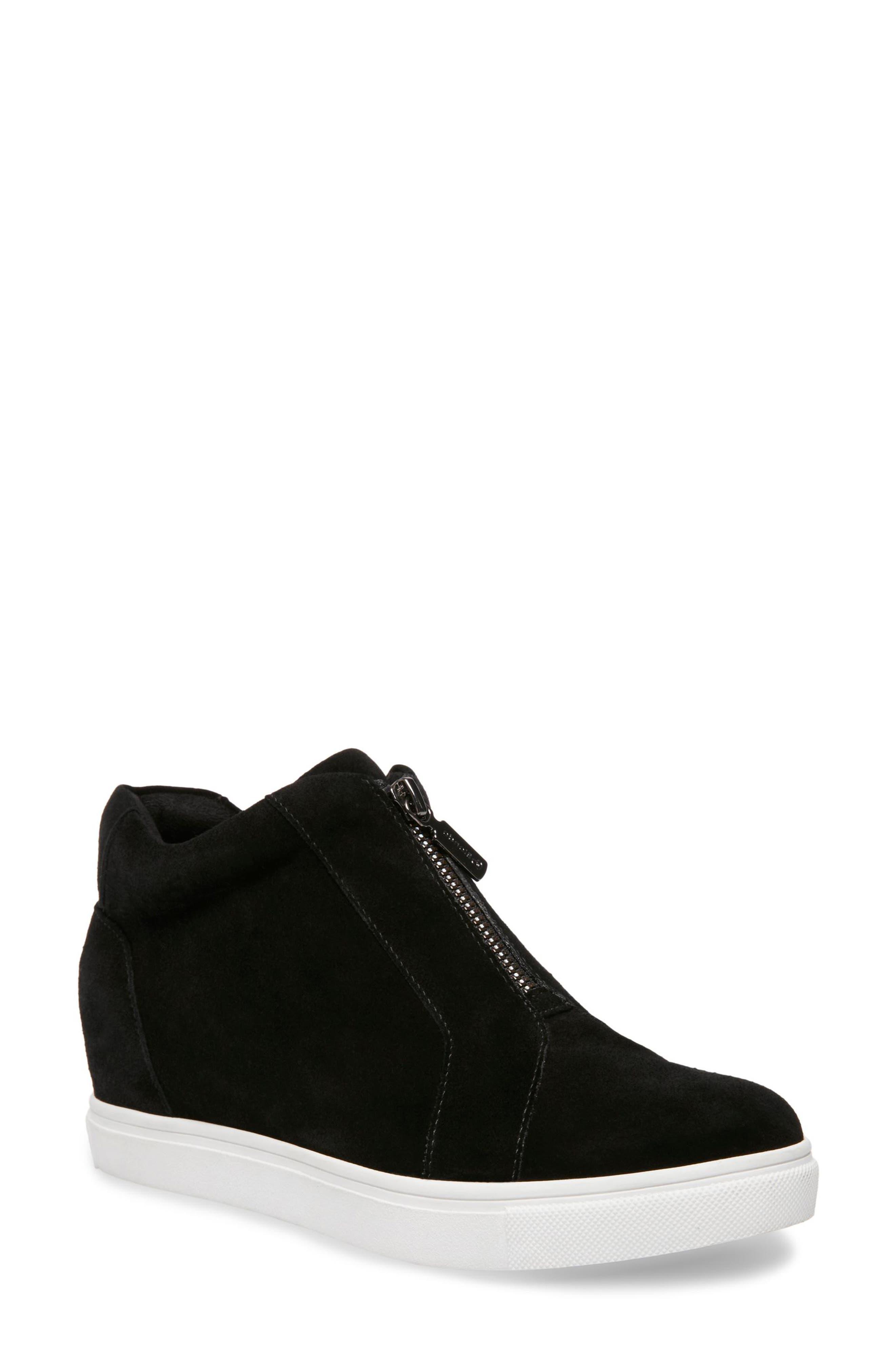 BLONDO, Glenda Waterproof Sneaker Bootie, Main thumbnail 1, color, BLACK SUEDE