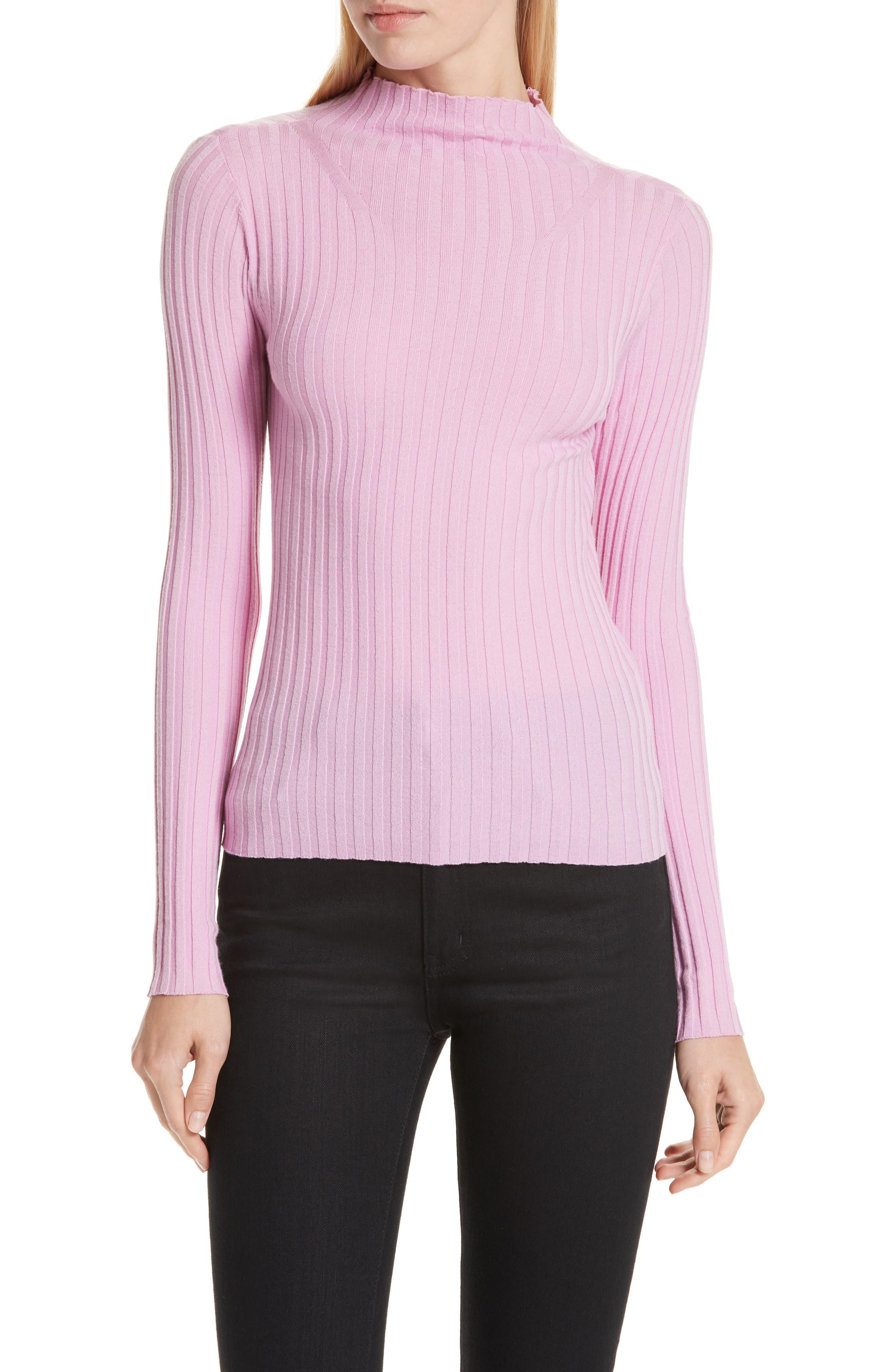 A.L.C. Lamont Funnel Neck Sweater, Main, color, BUBBLEGUM