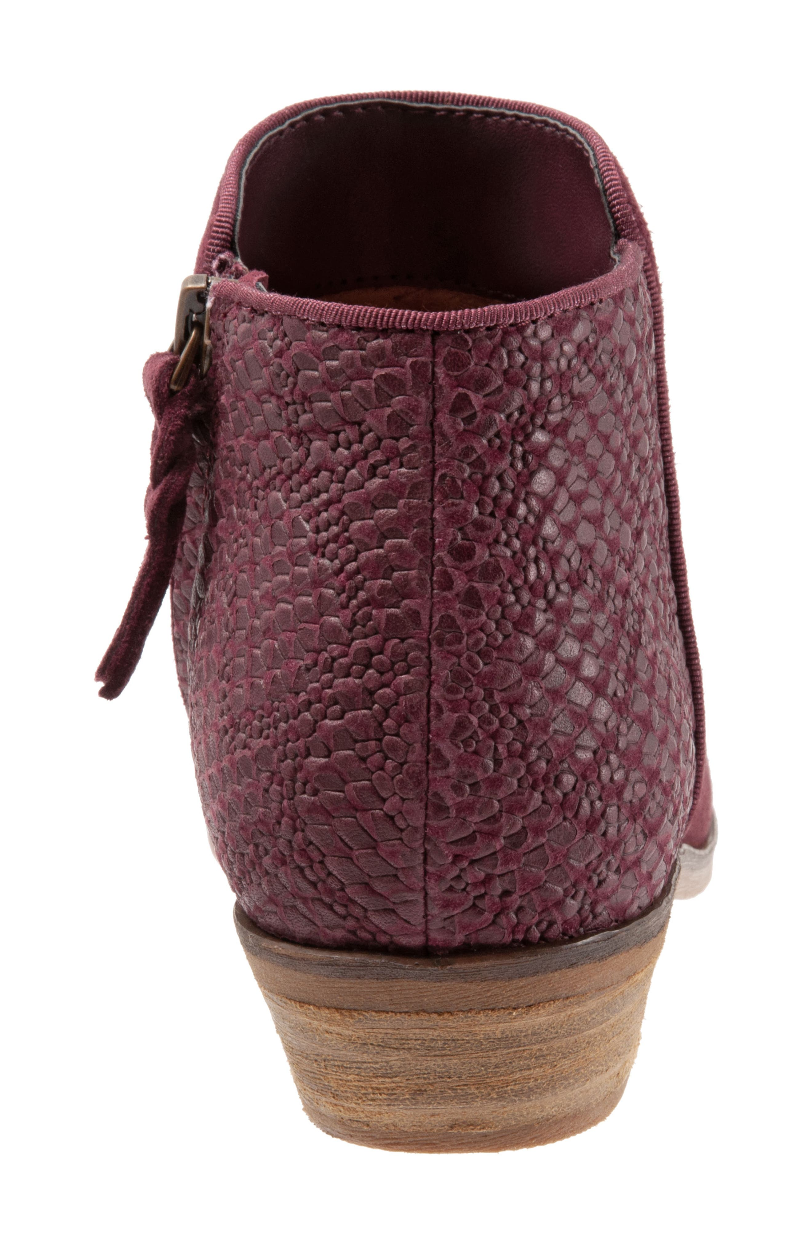SOFTWALK<SUP>®</SUP>, 'Rocklin' Bootie, Alternate thumbnail 6, color, BURGUNDY LEATHER
