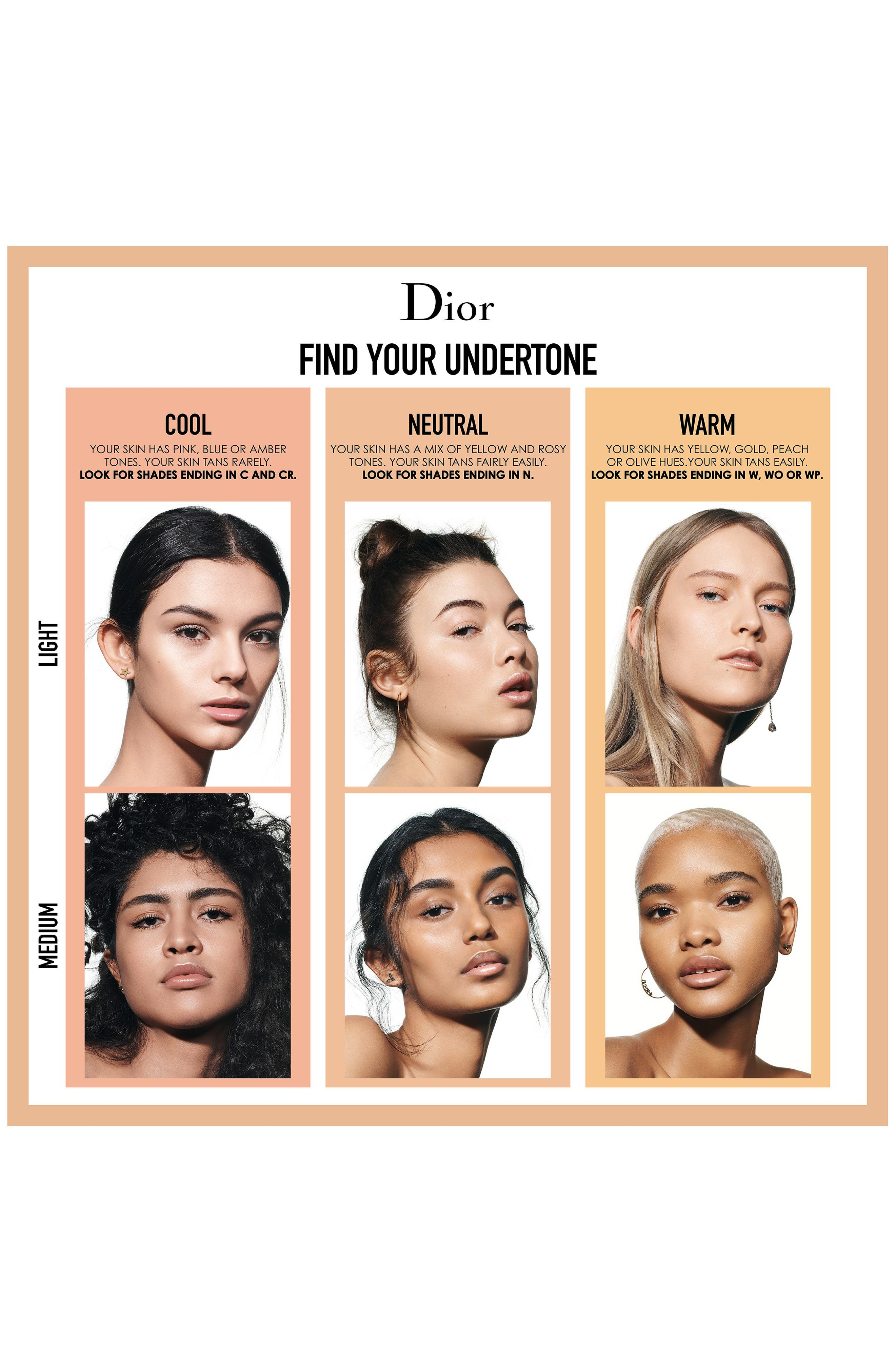 DIOR, Forever Skin Glow Radiant Perfection Skin-Caring Foundation SPF 35, Alternate thumbnail 5, color, 1 COOL ROSY