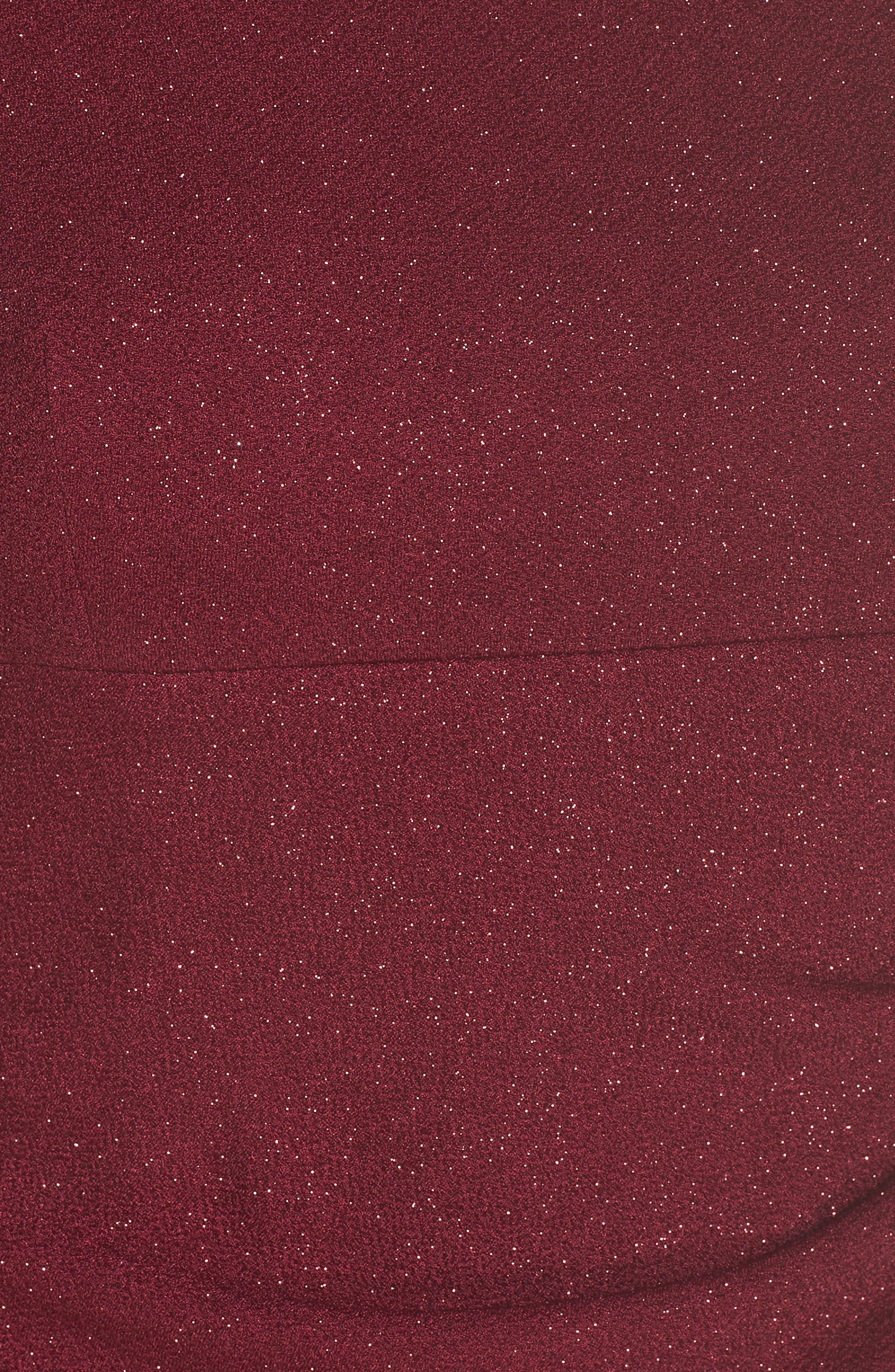 ELIZA J, Off the Shoulder Sheath Dress, Alternate thumbnail 6, color, WINE
