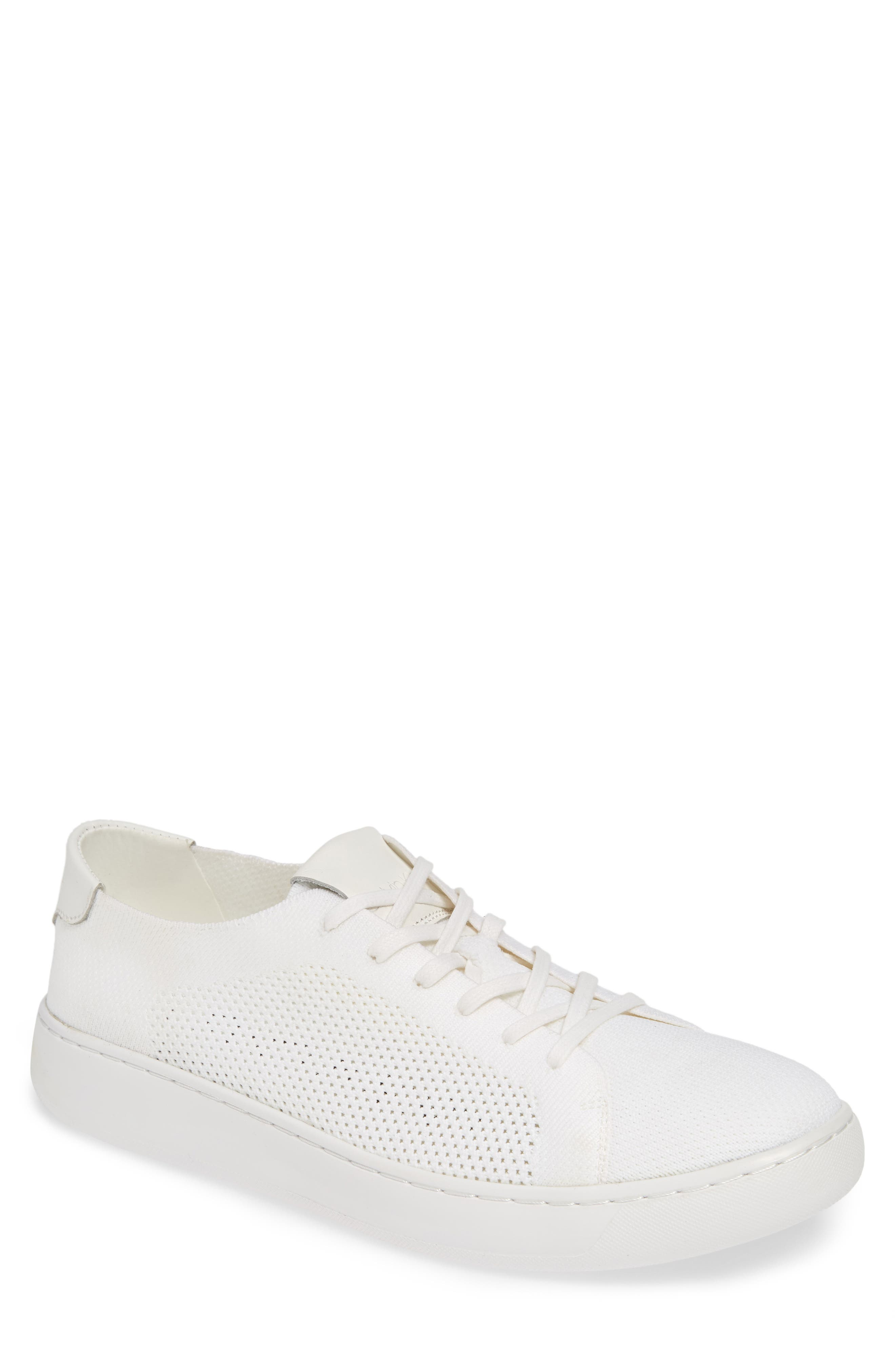 CALVIN KLEIN, Freeport Sneaker, Main thumbnail 1, color, WHITE