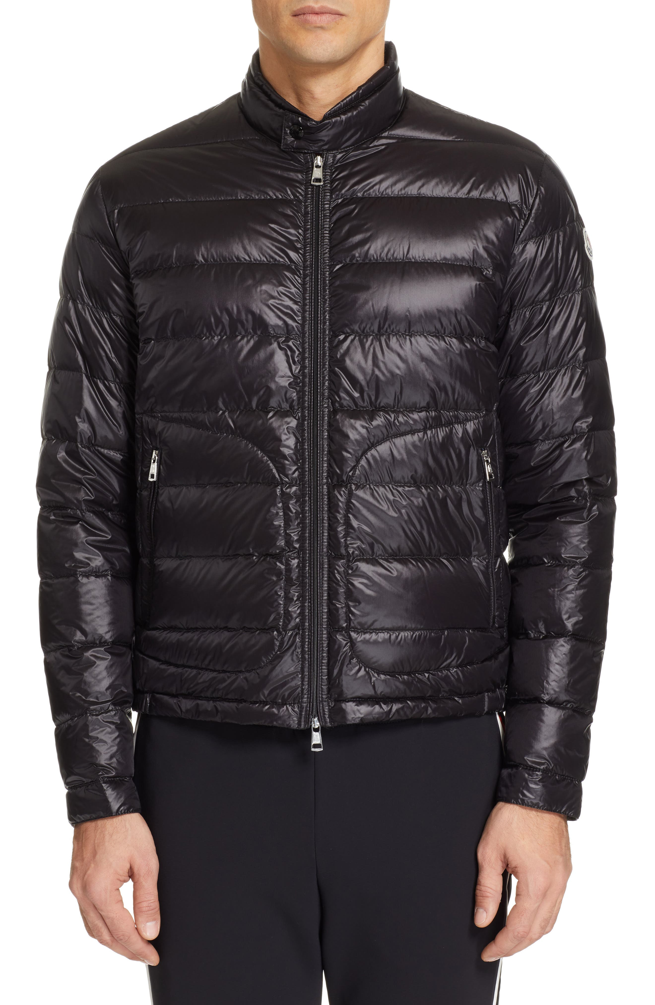 MONCLER, Acorus Down Jacket, Alternate thumbnail 4, color, BLACK