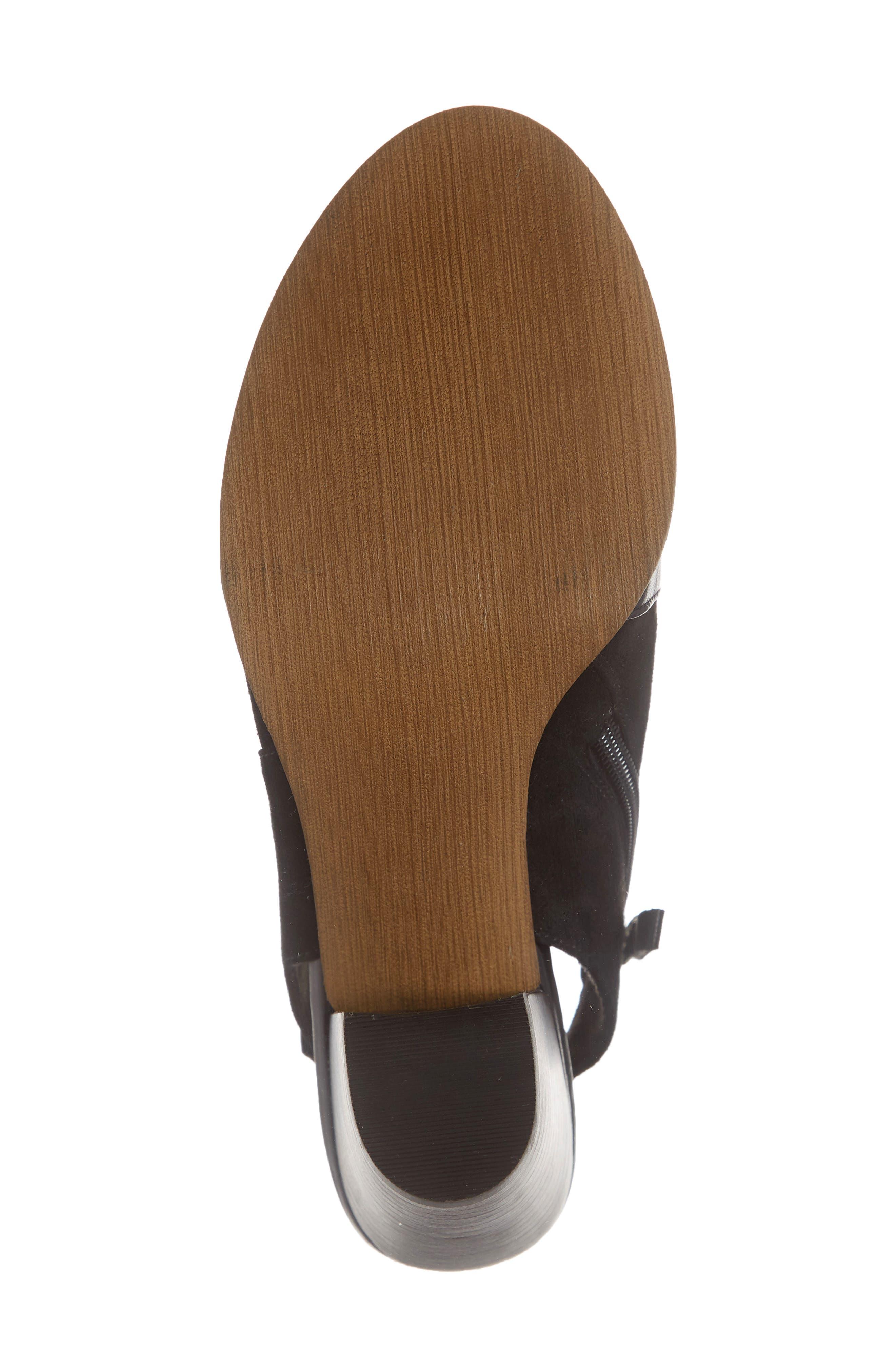 BELLA VITA, Kellan Mixed Finish Sandal, Alternate thumbnail 6, color, BLACK LEATHER/ SUEDE