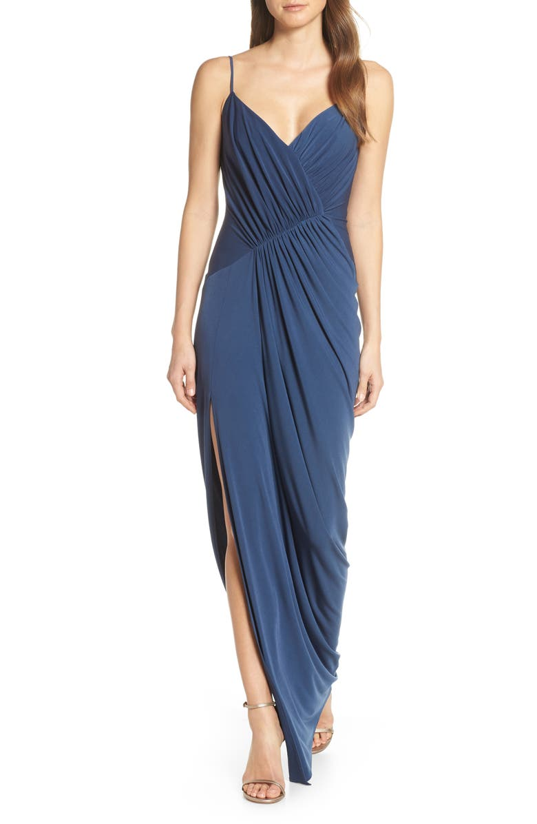 Katie May Dresses RUCHED SIDE DRAPE EVENING DRESS