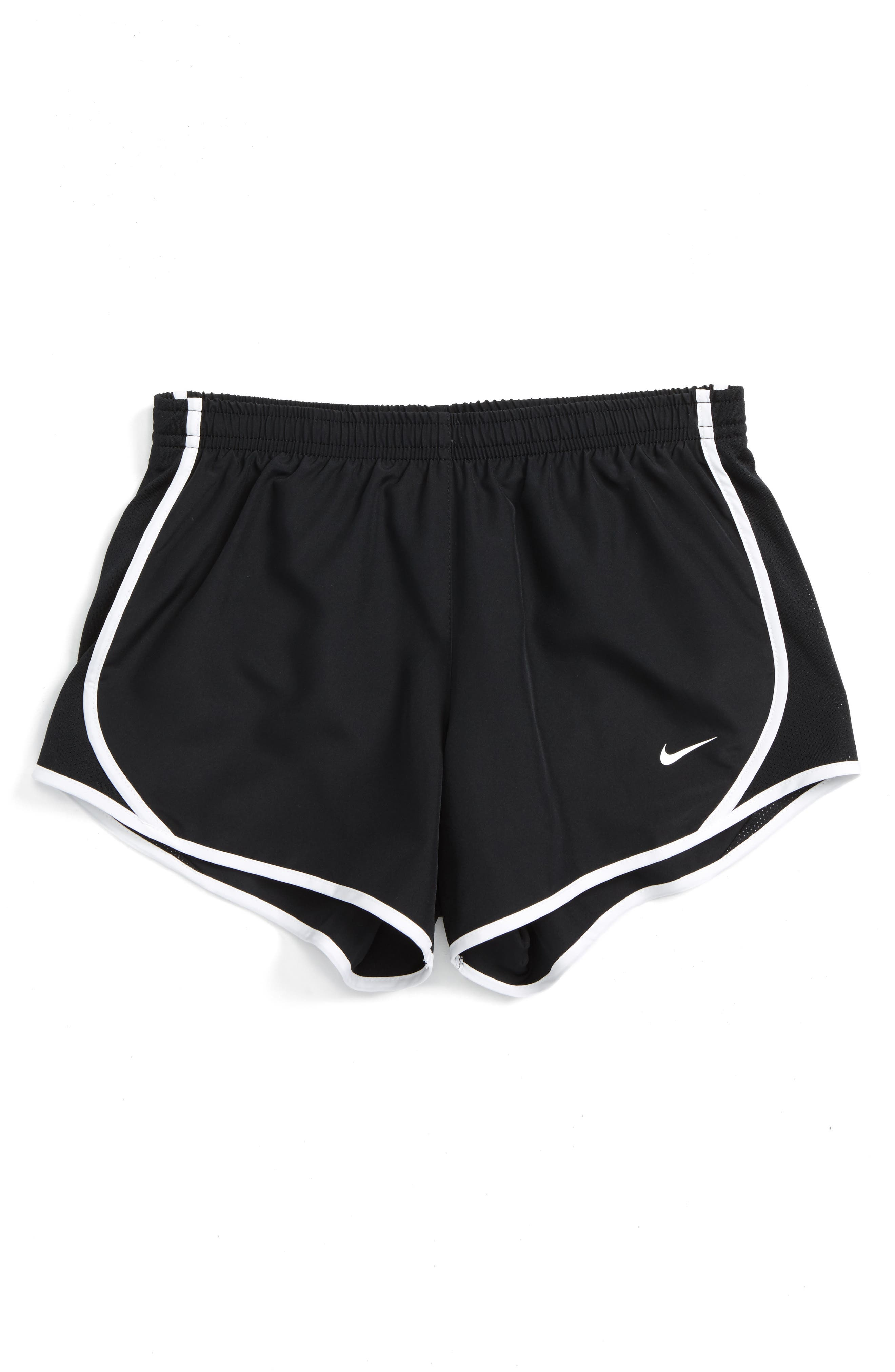 NIKE Dry Tempo Running Shorts, Main, color, BLACK/ WHITE