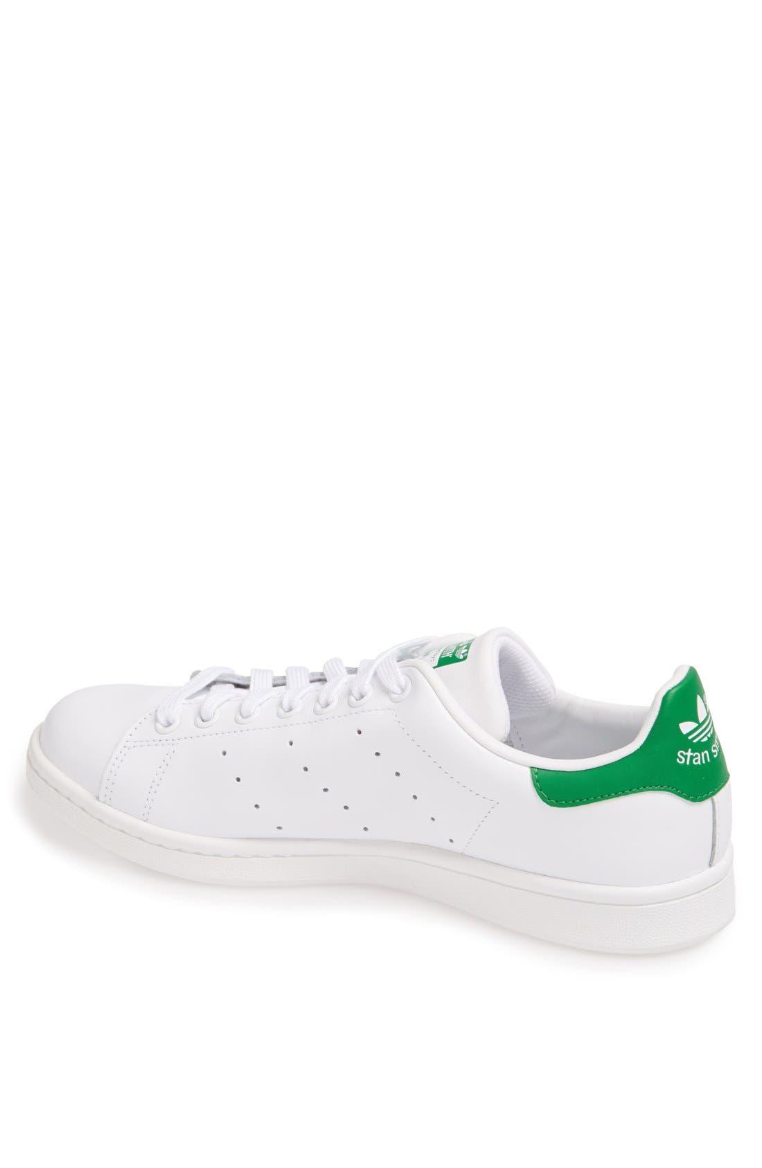 ADIDAS, Stan Smith Sneaker, Alternate thumbnail 2, color, WHITE/ FAIRWAY