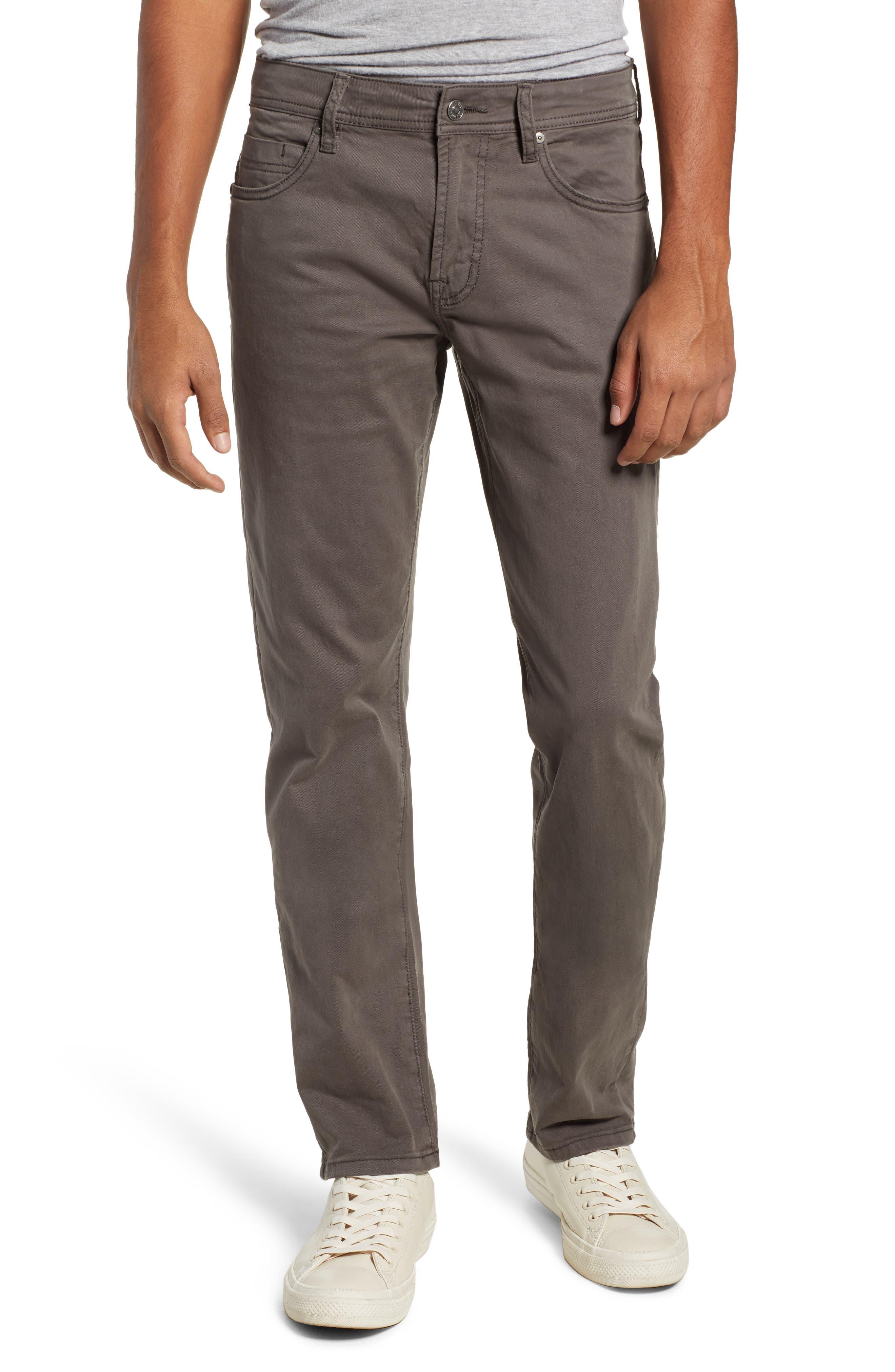 LIVERPOOL, Kingston Modern Straight Leg Twill Pants, Main thumbnail 1, color, OCEAN STORM