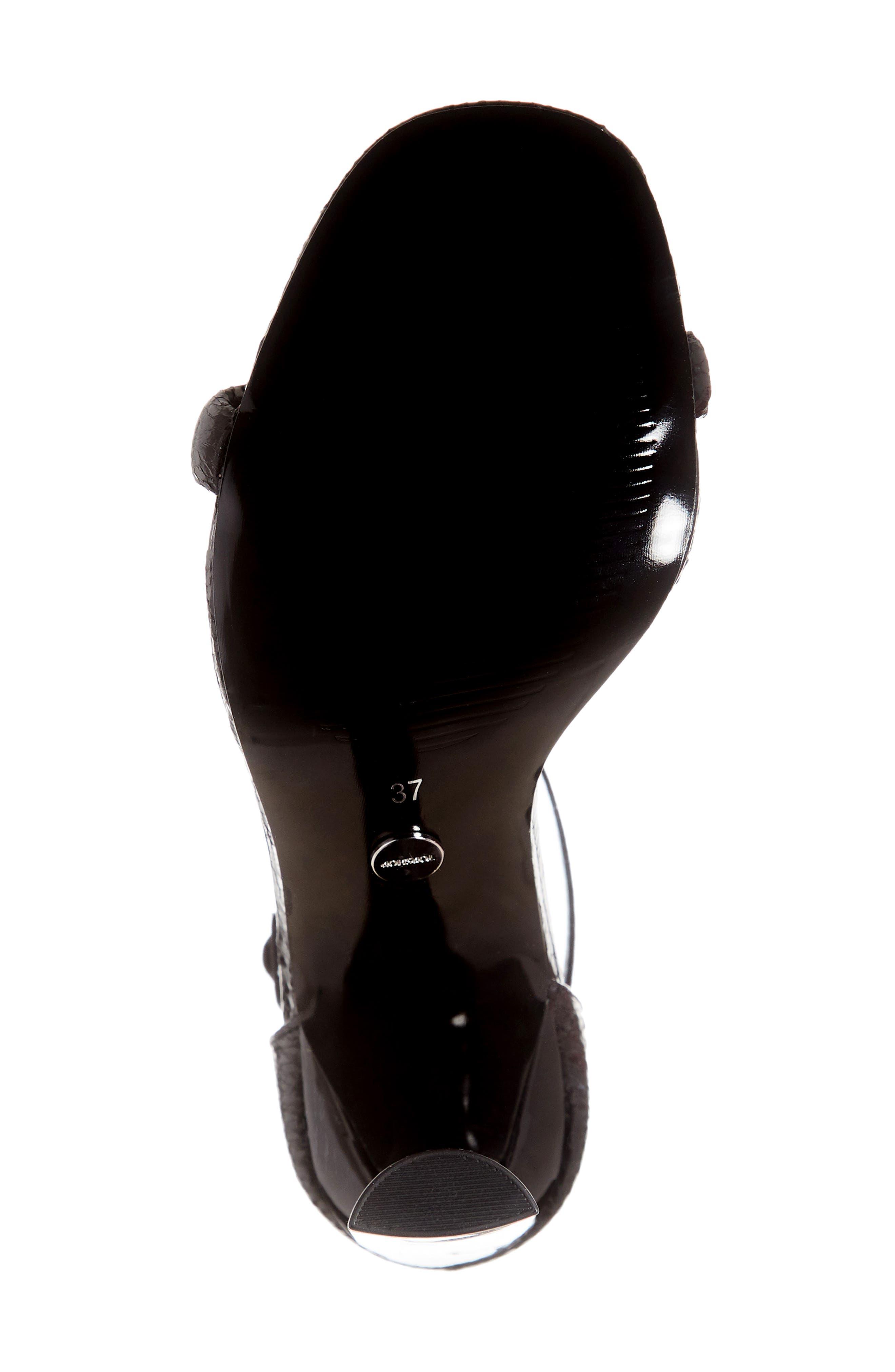 TOPSHOP, Robyn Ankle Strap Sandal, Alternate thumbnail 6, color, BLACK