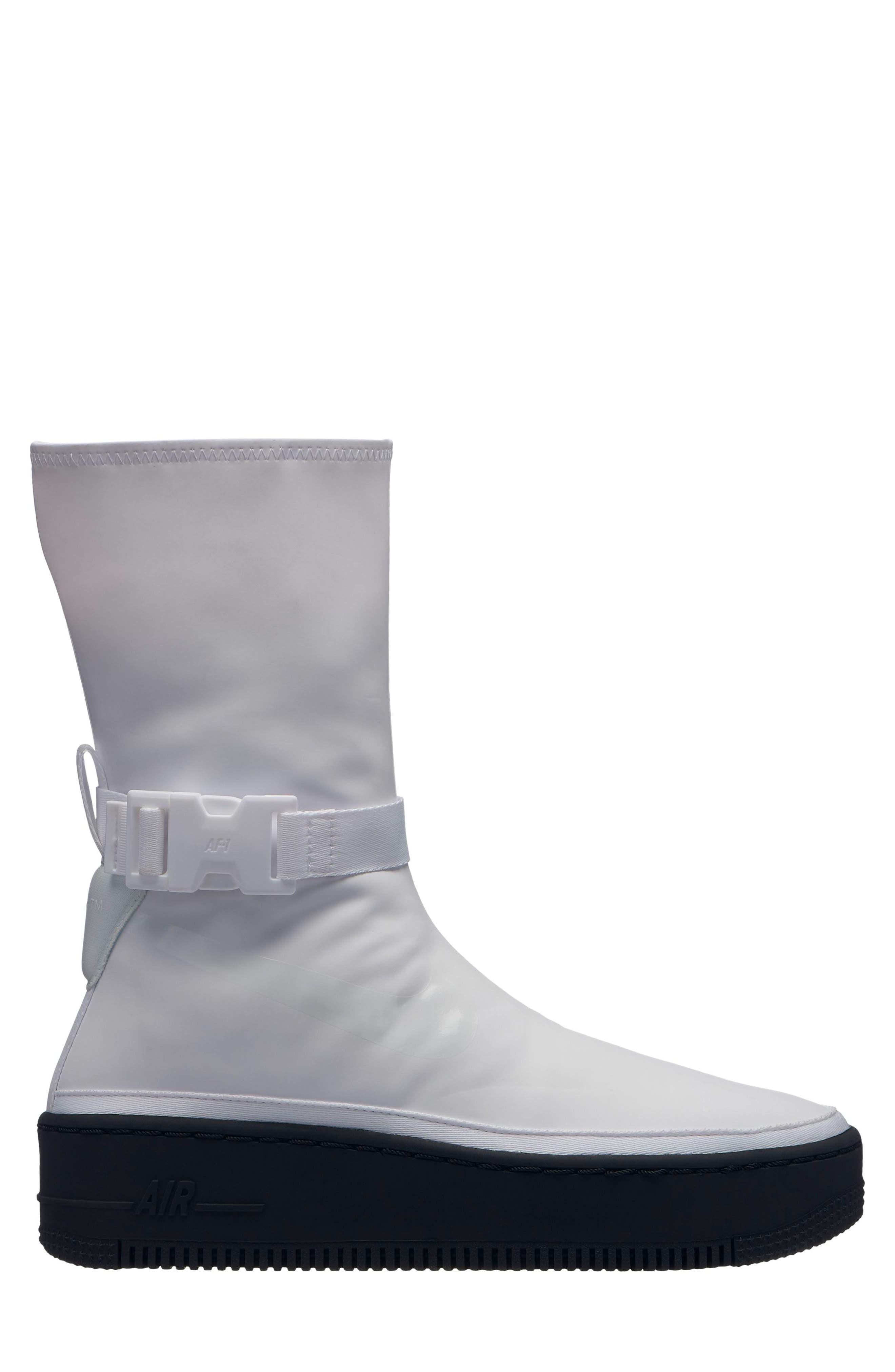 NIKE, Air Force 1 Sage High Platform Sneaker, Main thumbnail 1, color, WHITE/ WHITE/ BLACK
