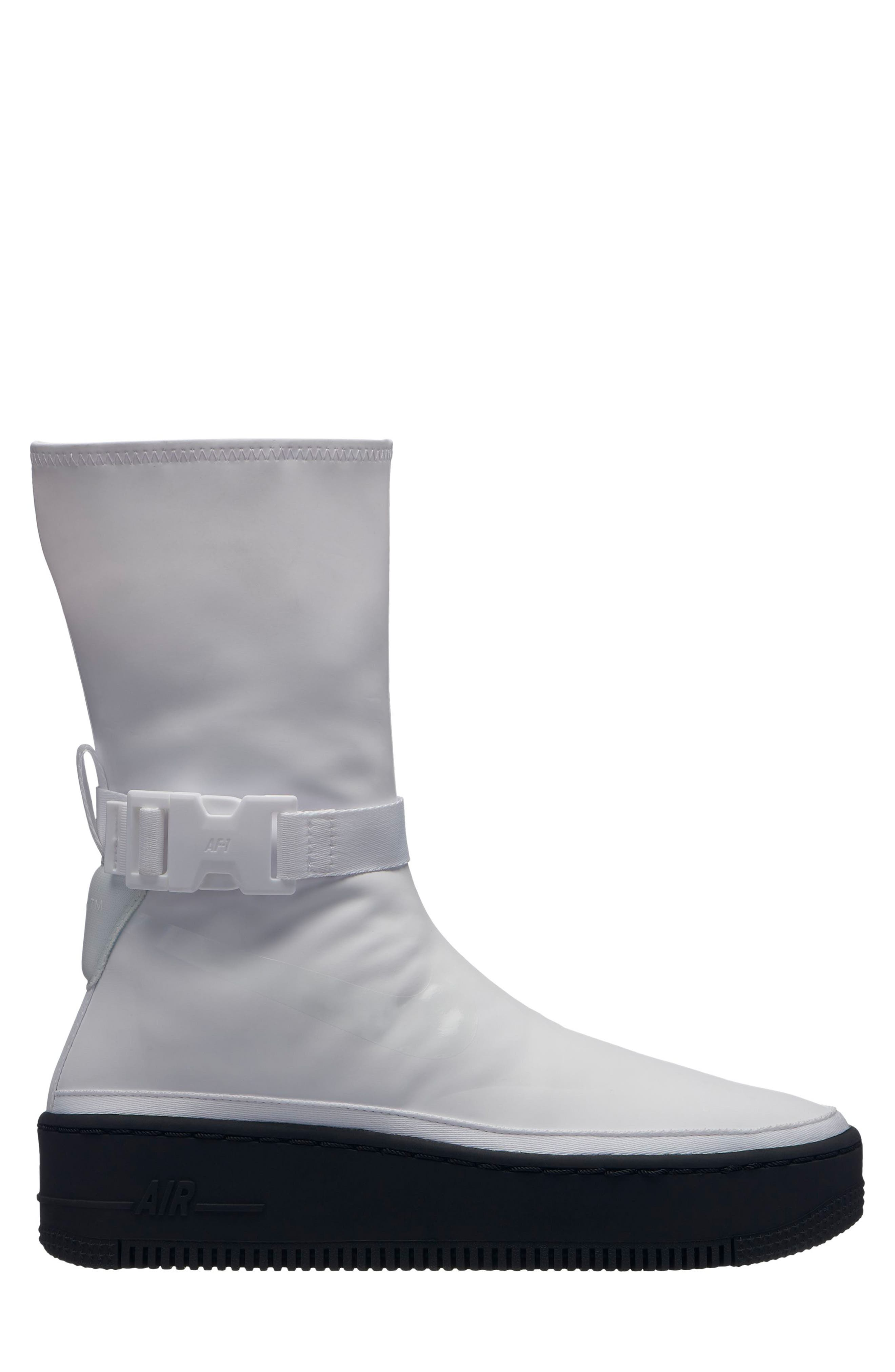 NIKE Air Force 1 Sage High Platform Sneaker, Main, color, WHITE/ WHITE/ BLACK
