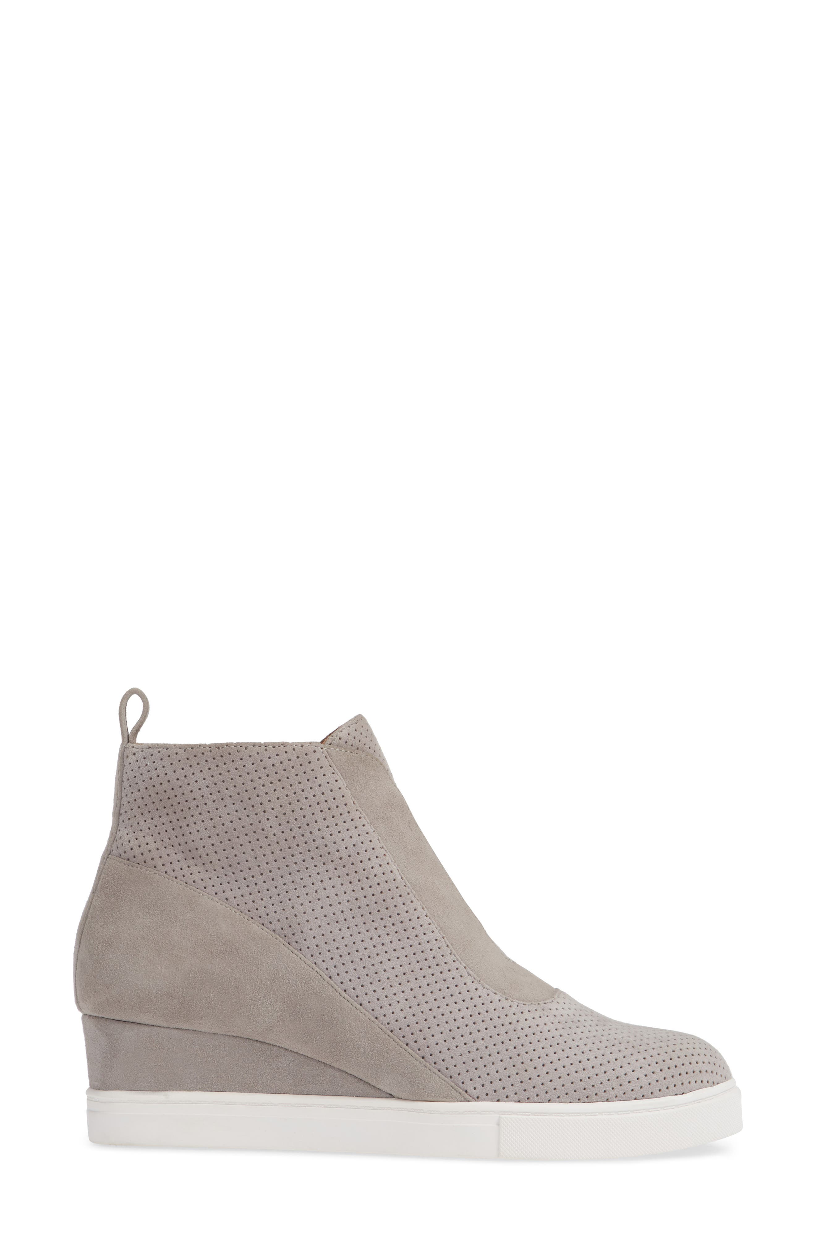 LINEA PAOLO, Anna Wedge Sneaker, Alternate thumbnail 3, color, ROCK PER SUEDE