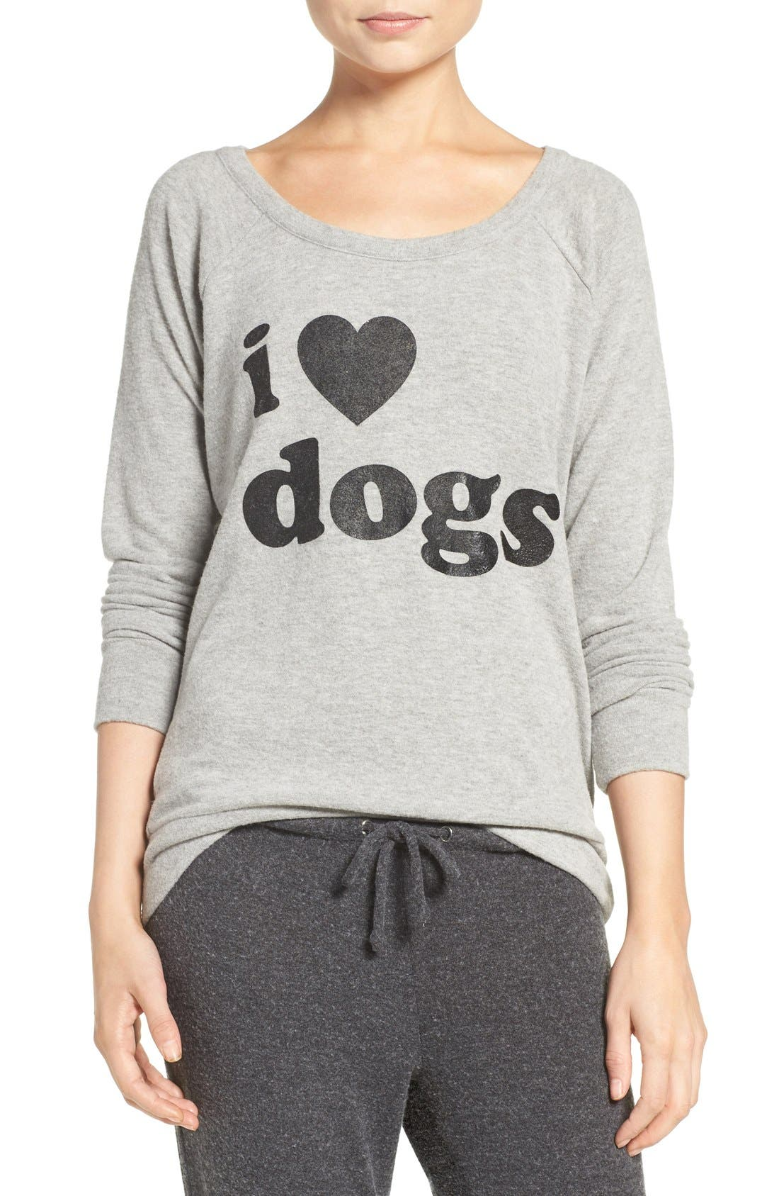 CHASER, I Love Dogs Pullover Top, Main thumbnail 1, color, 039