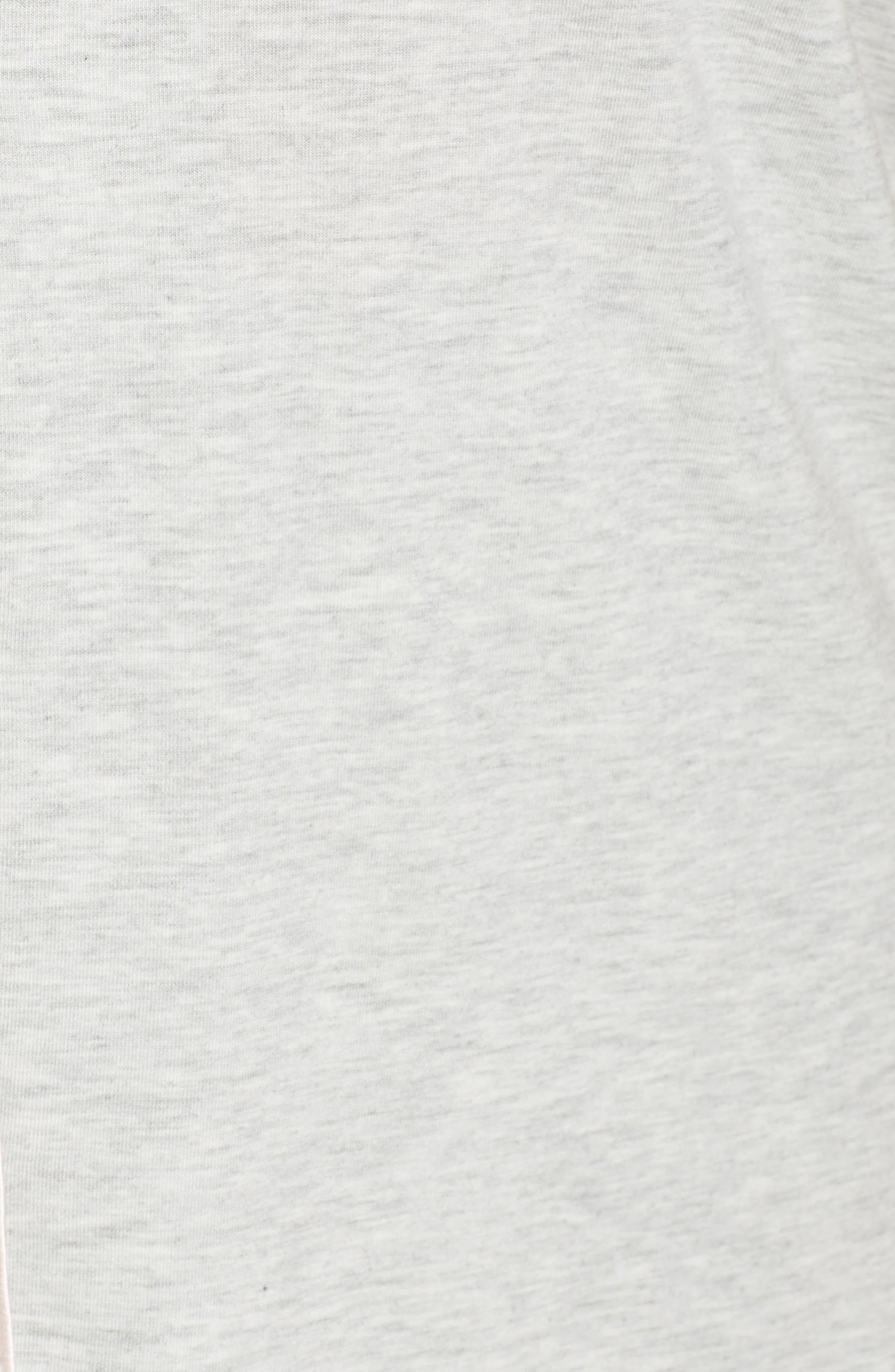 NORDSTROM LINGERIE, Moonlight Short Pajamas, Alternate thumbnail 5, color, GREY PEARL HEATHER
