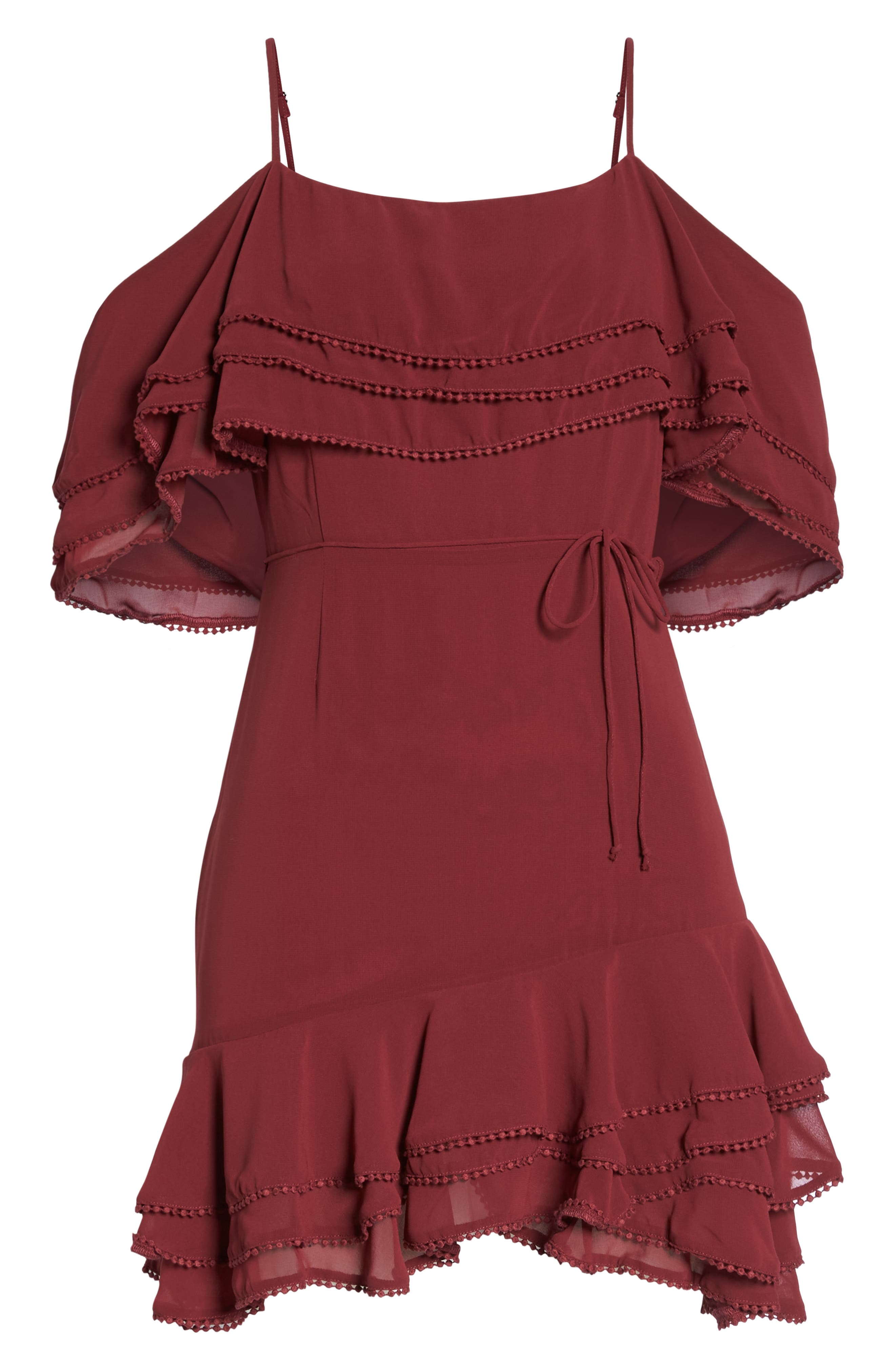 BB DAKOTA, Up All Night Layered Cold Shoulder Dress, Alternate thumbnail 7, color, 930