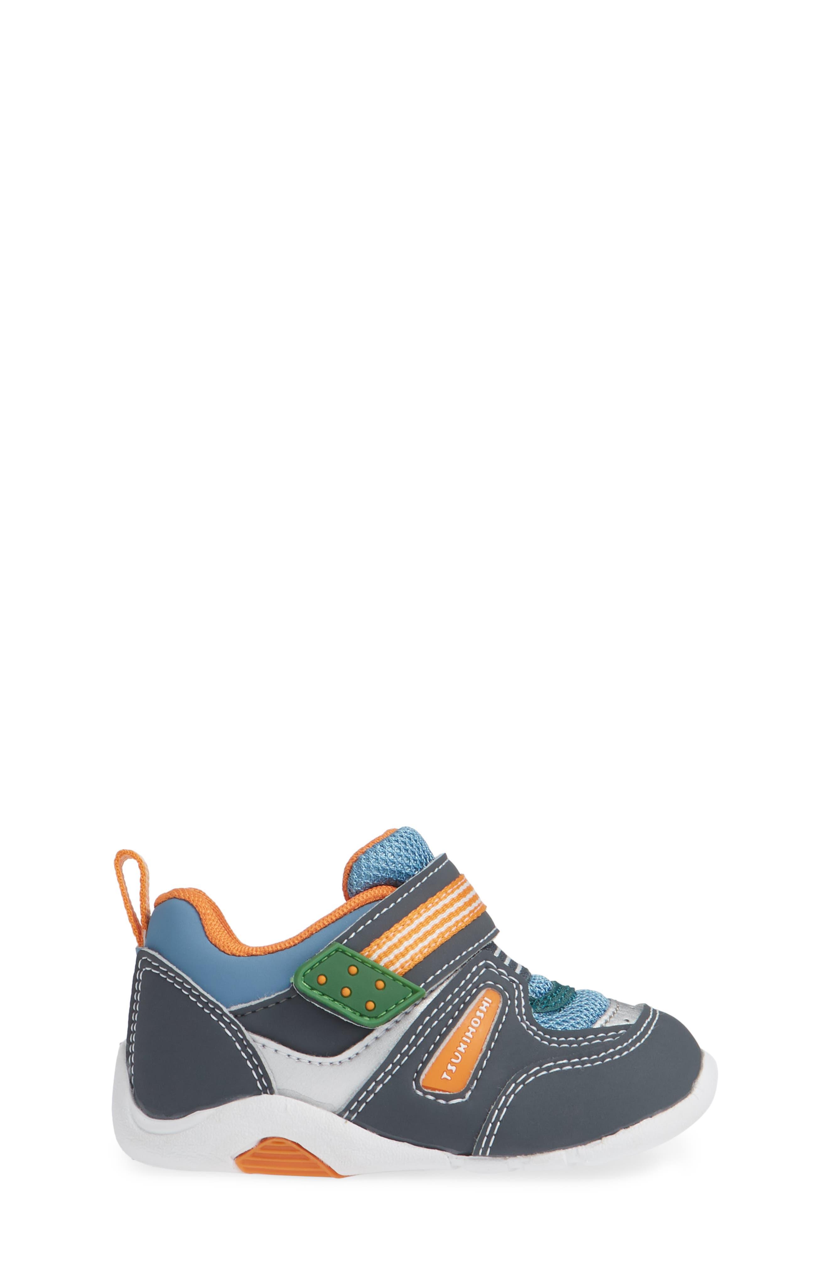 TSUKIHOSHI, Neko Washable Sneaker, Alternate thumbnail 3, color, CHARCOAL/ SEA