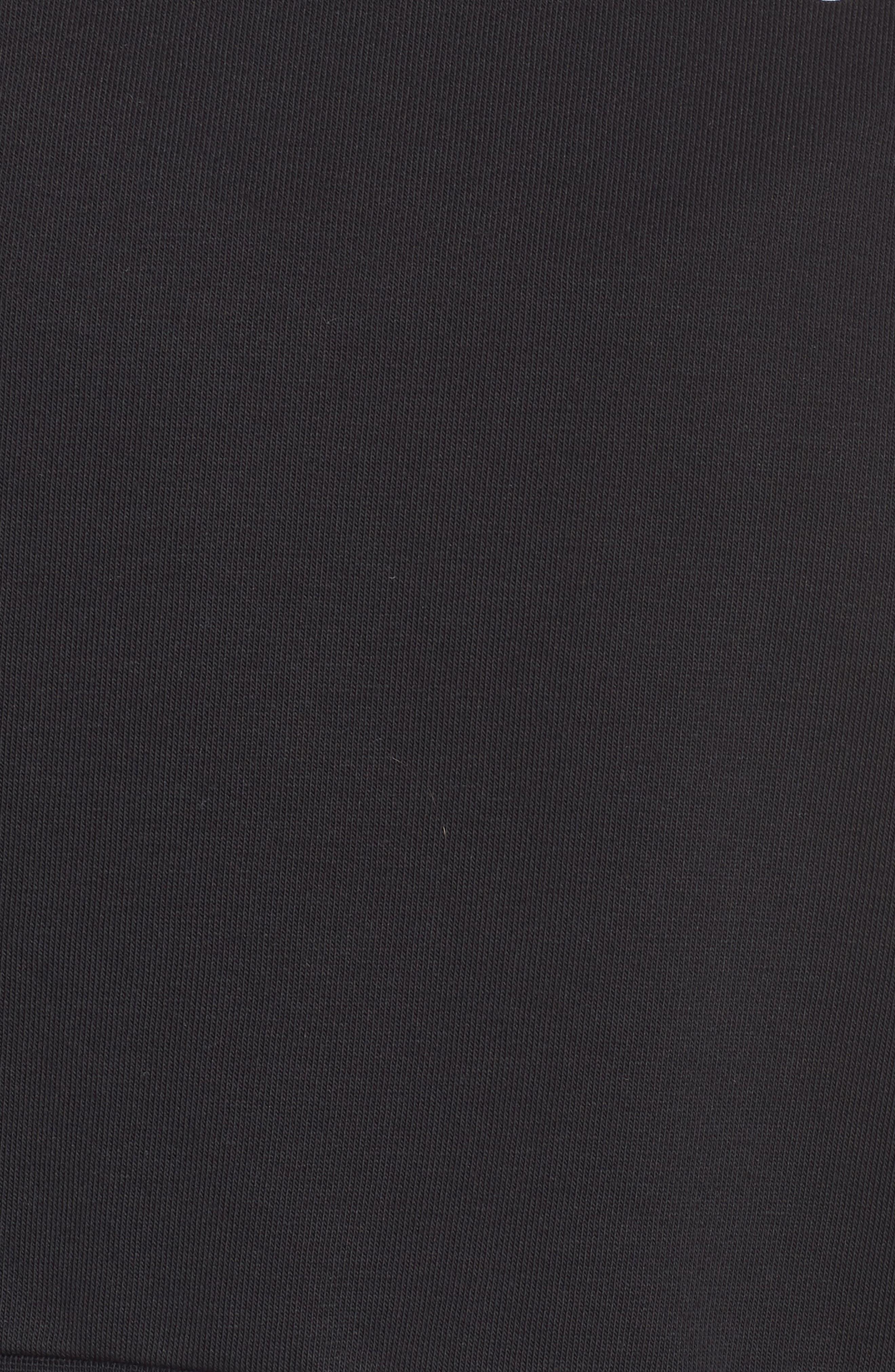 NIKE, Dry Crop Training Sweatshirt, Alternate thumbnail 6, color, BLACK/ WHITE