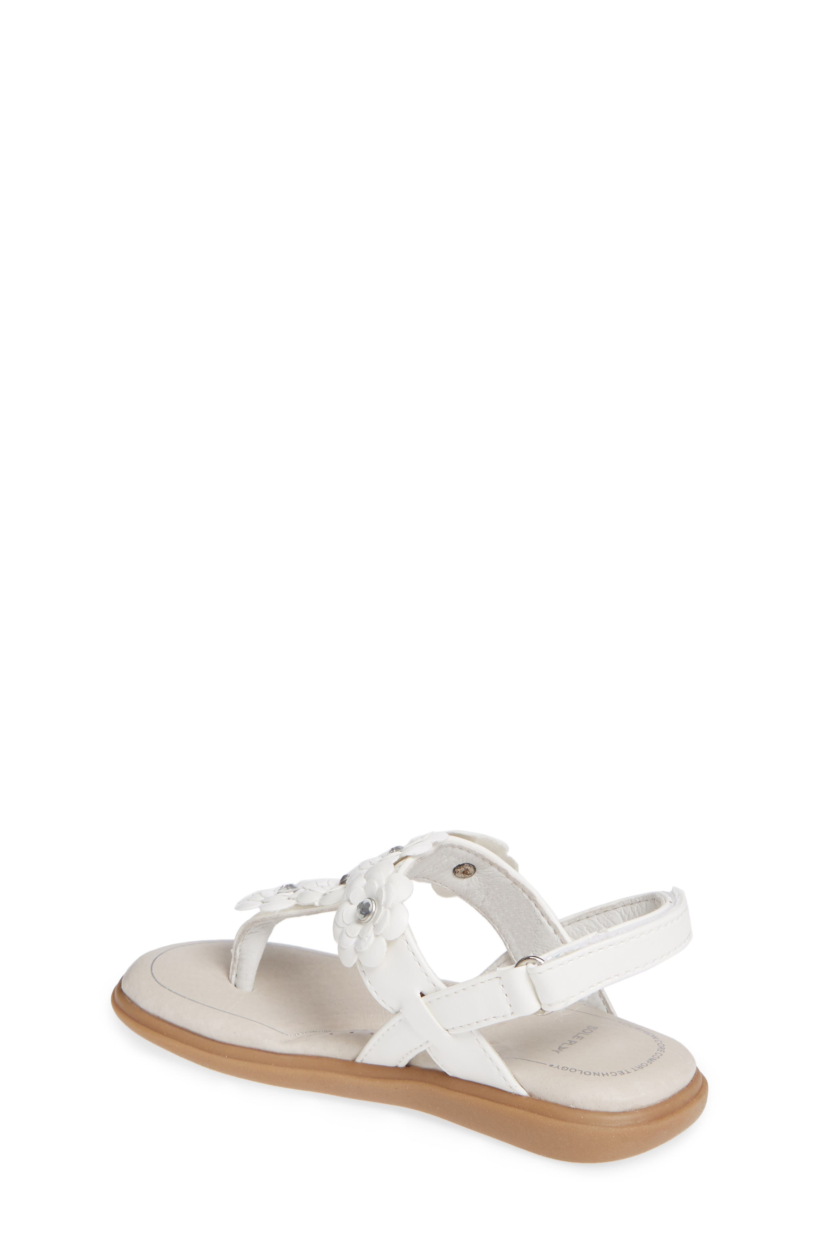 SOLE PLAY, Cora Floral Embellished Sandal, Alternate thumbnail 2, color, WHITE