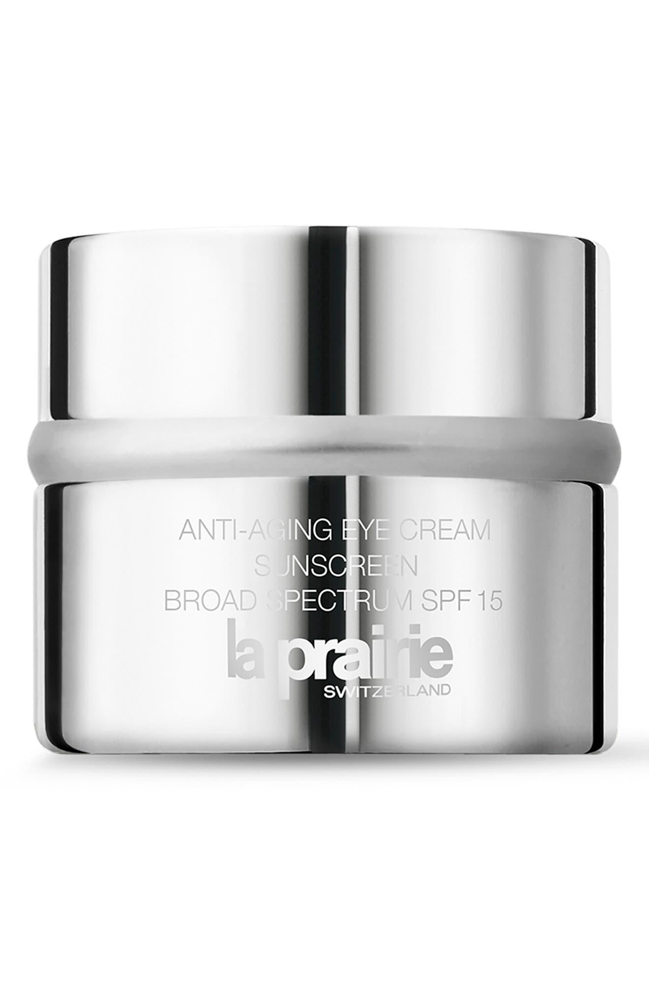 LA PRAIRIE Anti-Aging Eye Cream Sunscreen Broad Spectrum SPF 15, Main, color, NO COLOR