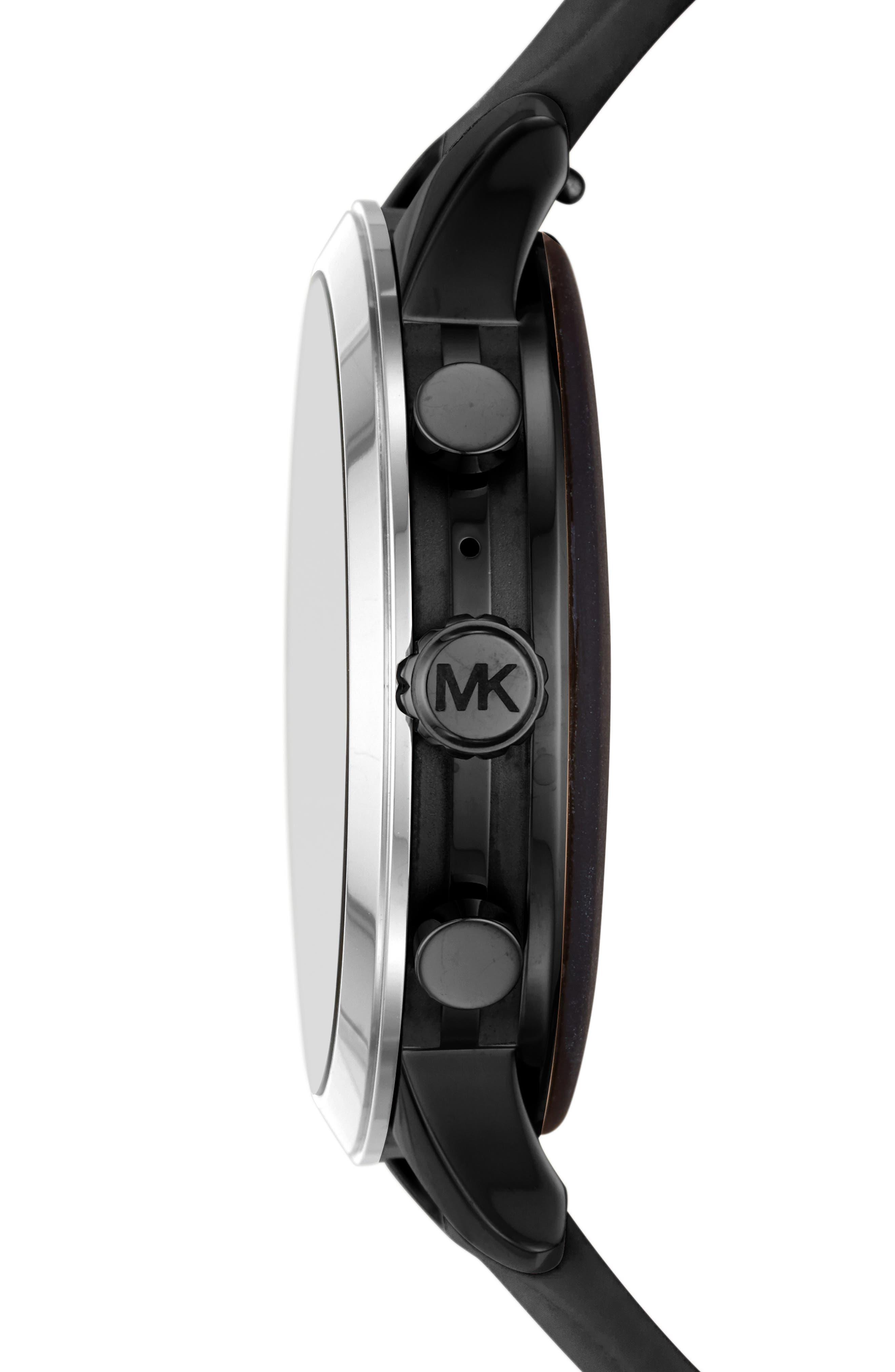 MICHAEL KORS, MICHAEL Michael Kors Access Runway Smart Watch, 41mm, Alternate thumbnail 3, color, 001