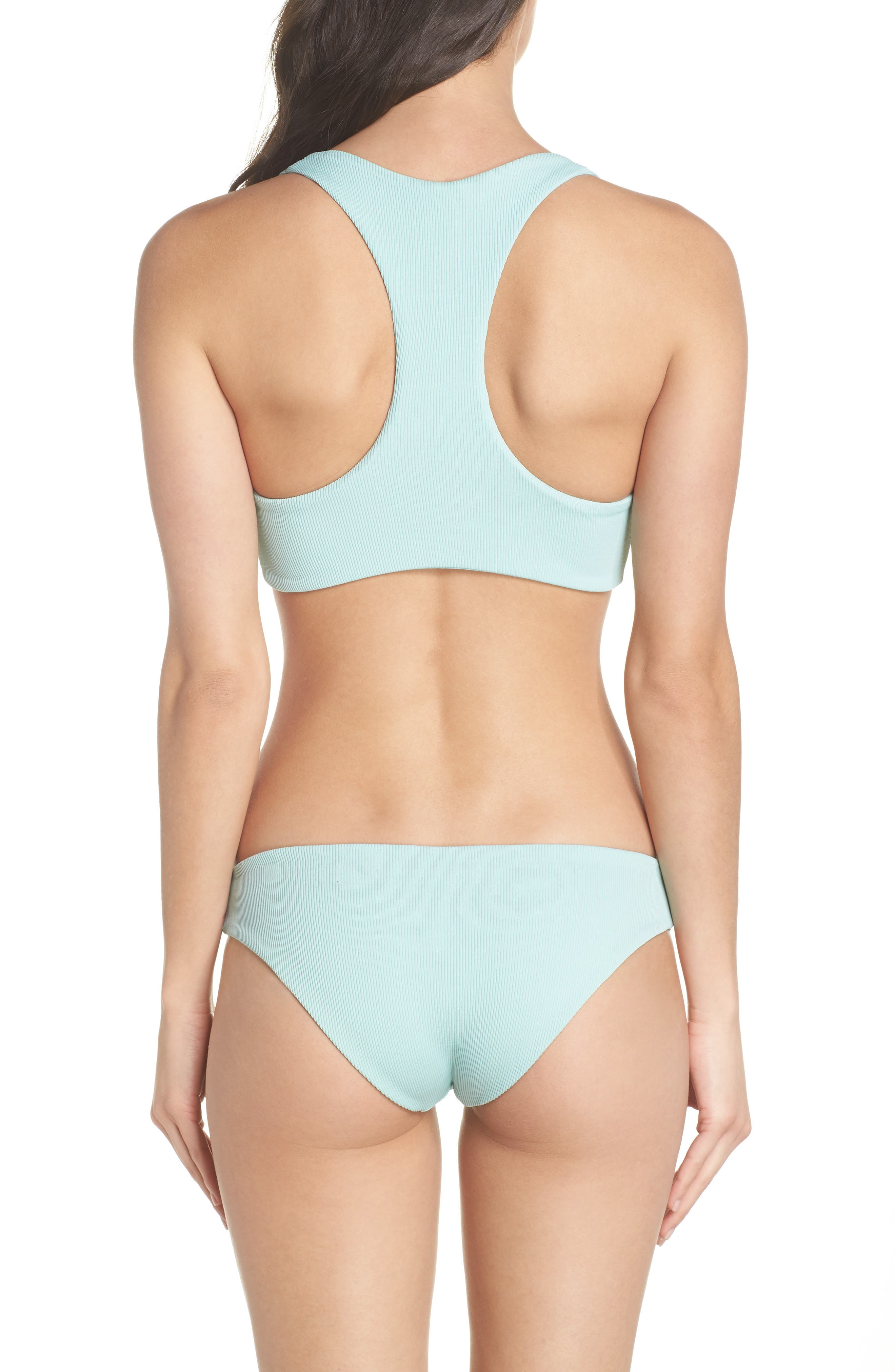L SPACE, Sandy Bikini Bottoms, Alternate thumbnail 8, color, LIGHT TURQUOISE