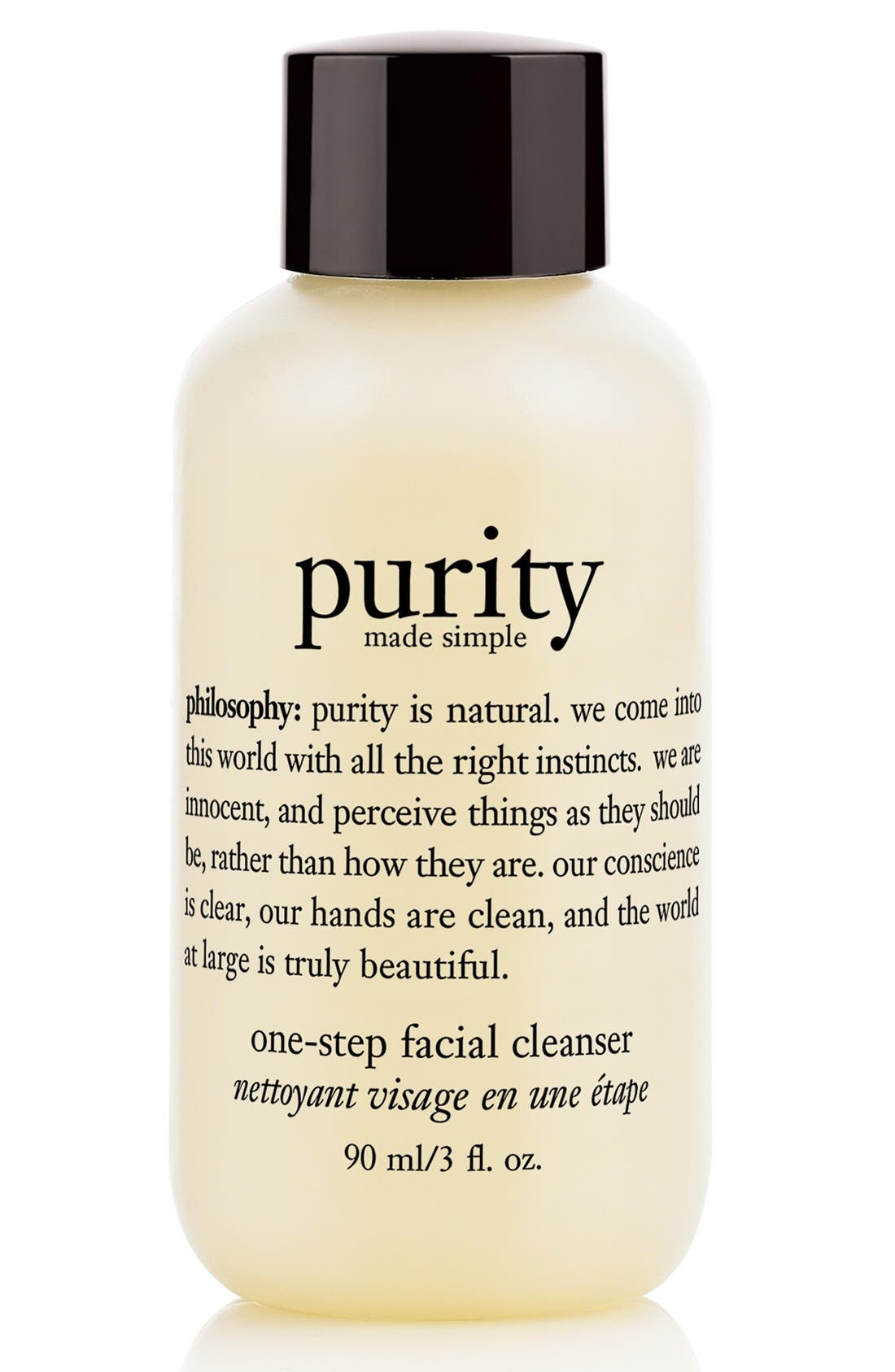 PHILOSOPHY, 'purity made simple' one-step facial cleanser, Alternate thumbnail 3, color, NO COLOR