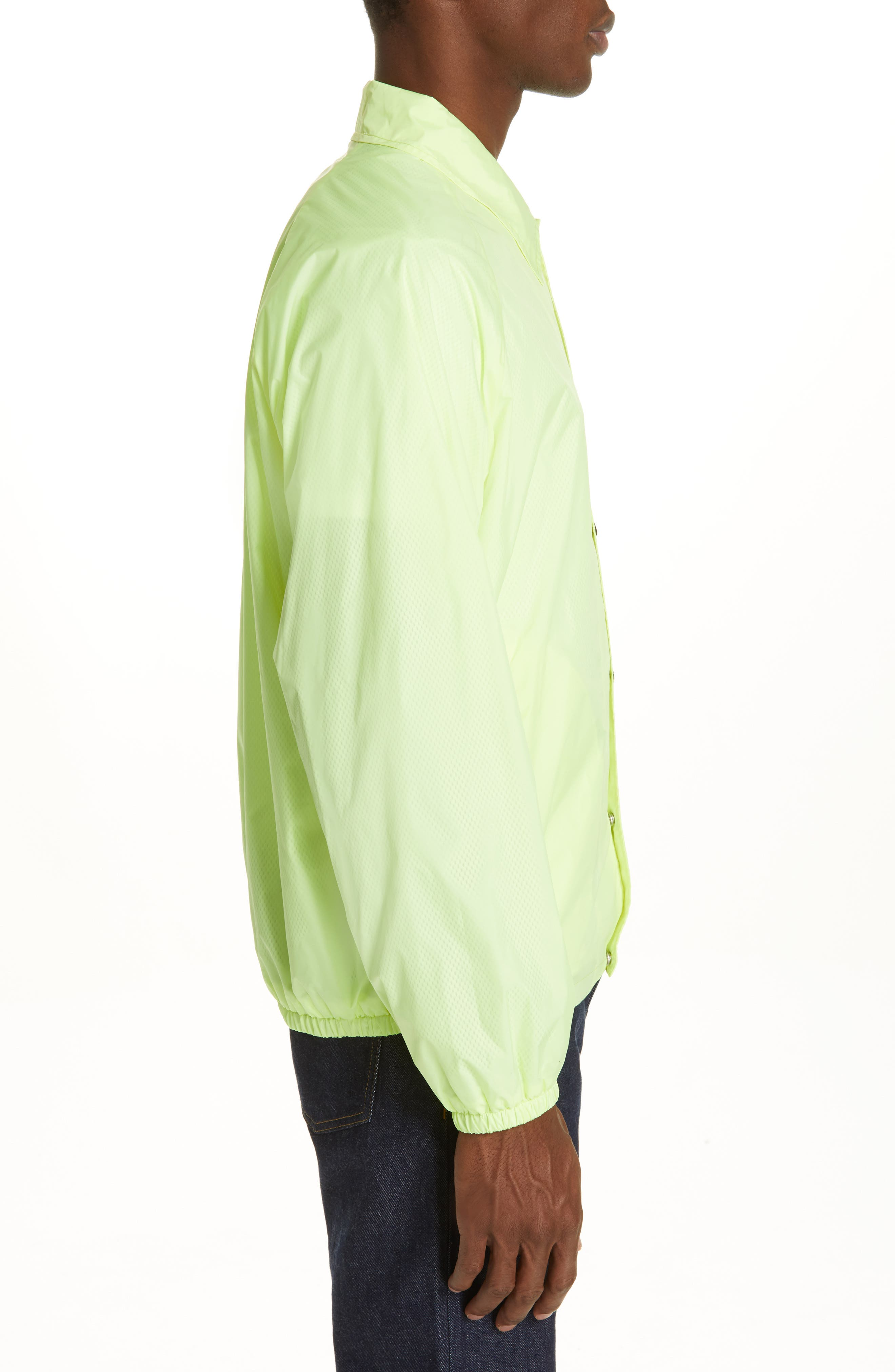 MAISON MARGIELA, Stereotype Coach's Jacket, Alternate thumbnail 3, color, NEON YELLOW