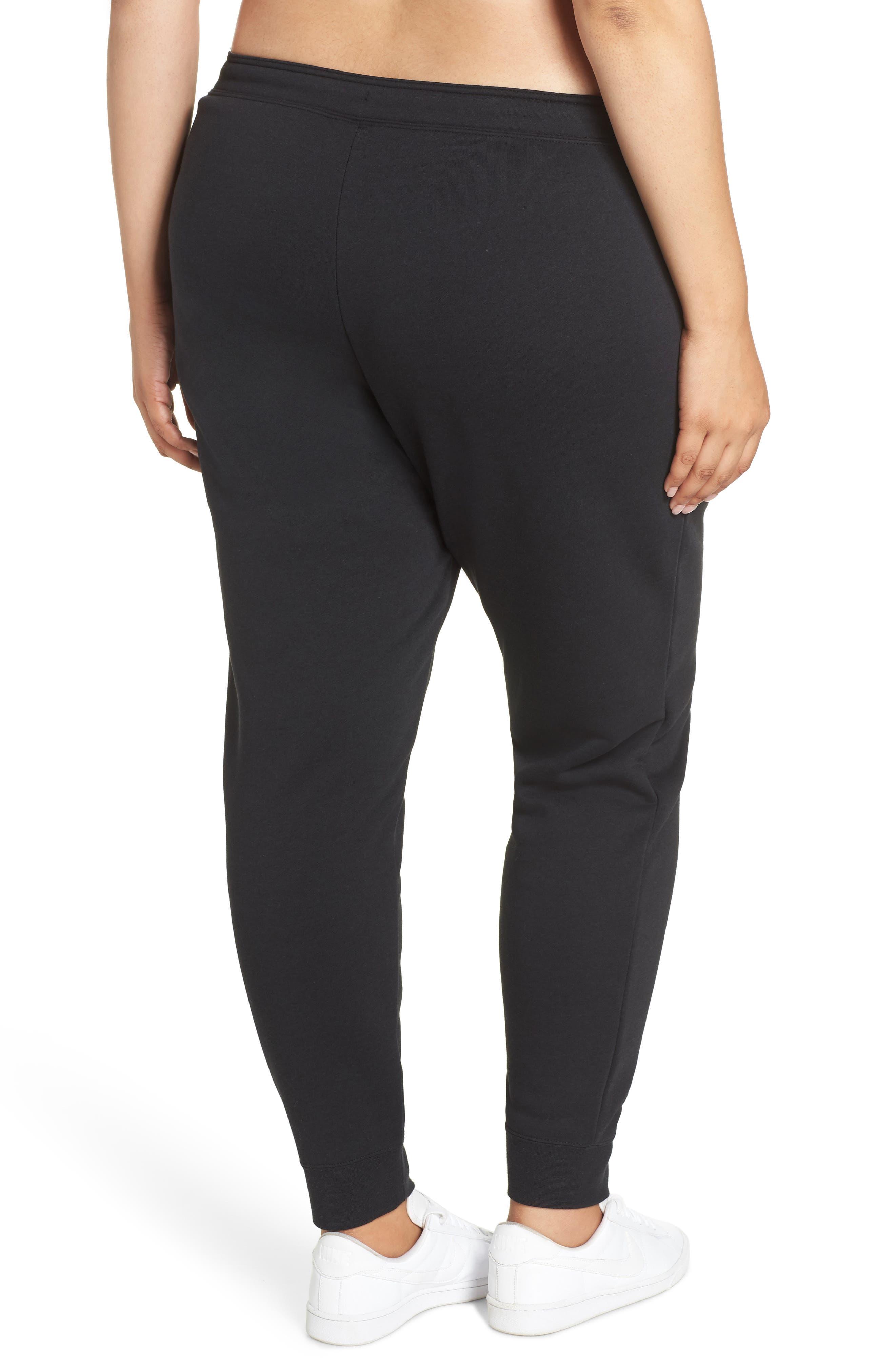 NIKE, Sportswear Rally High Rise Jogger Pants, Alternate thumbnail 2, color, BLACK/ BLACK/ WHITE