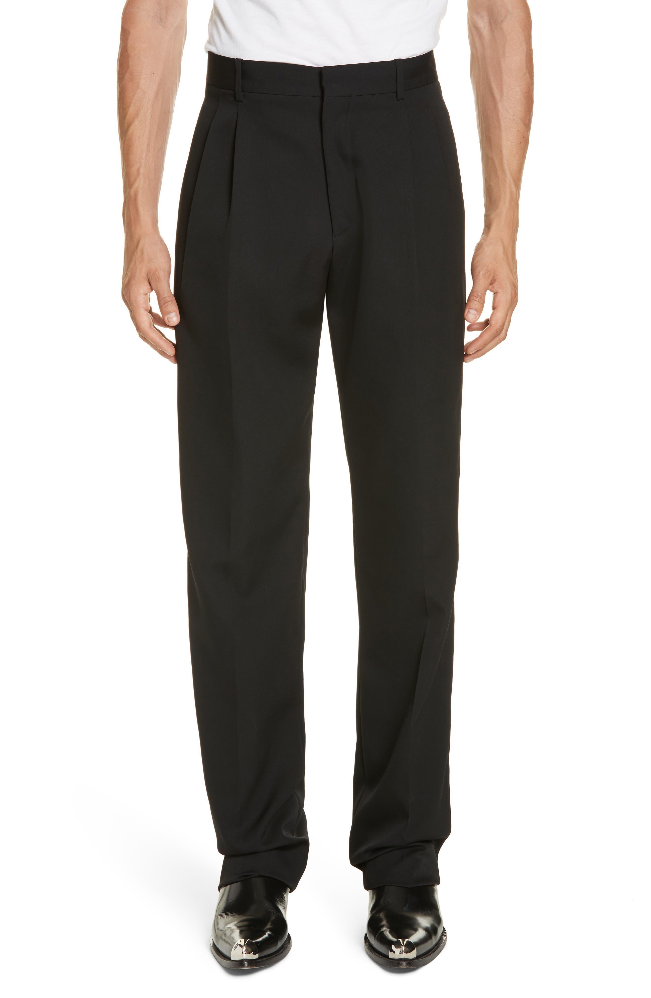 CALVIN KLEIN 205W39NYC Wool Gabardine Pants, Main, color, BLACK