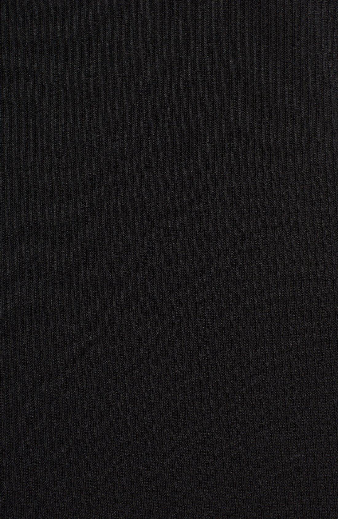 SOCIALITE, Maddie Rib Knit Cowl Shift Dress, Alternate thumbnail 5, color, 001