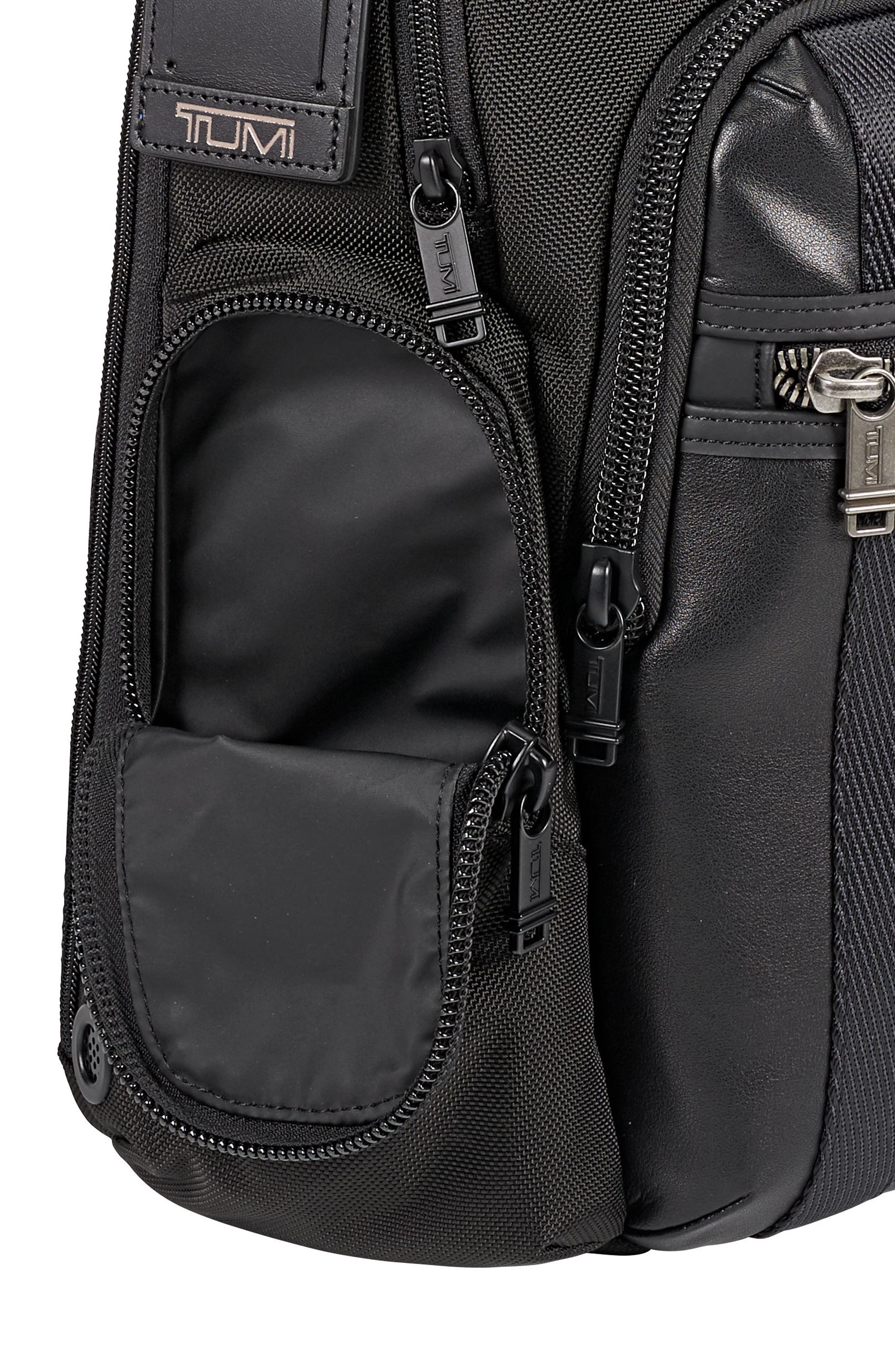 TUMI, Alpha Bravo - Nellis Backpack, Alternate thumbnail 4, color, BLACK