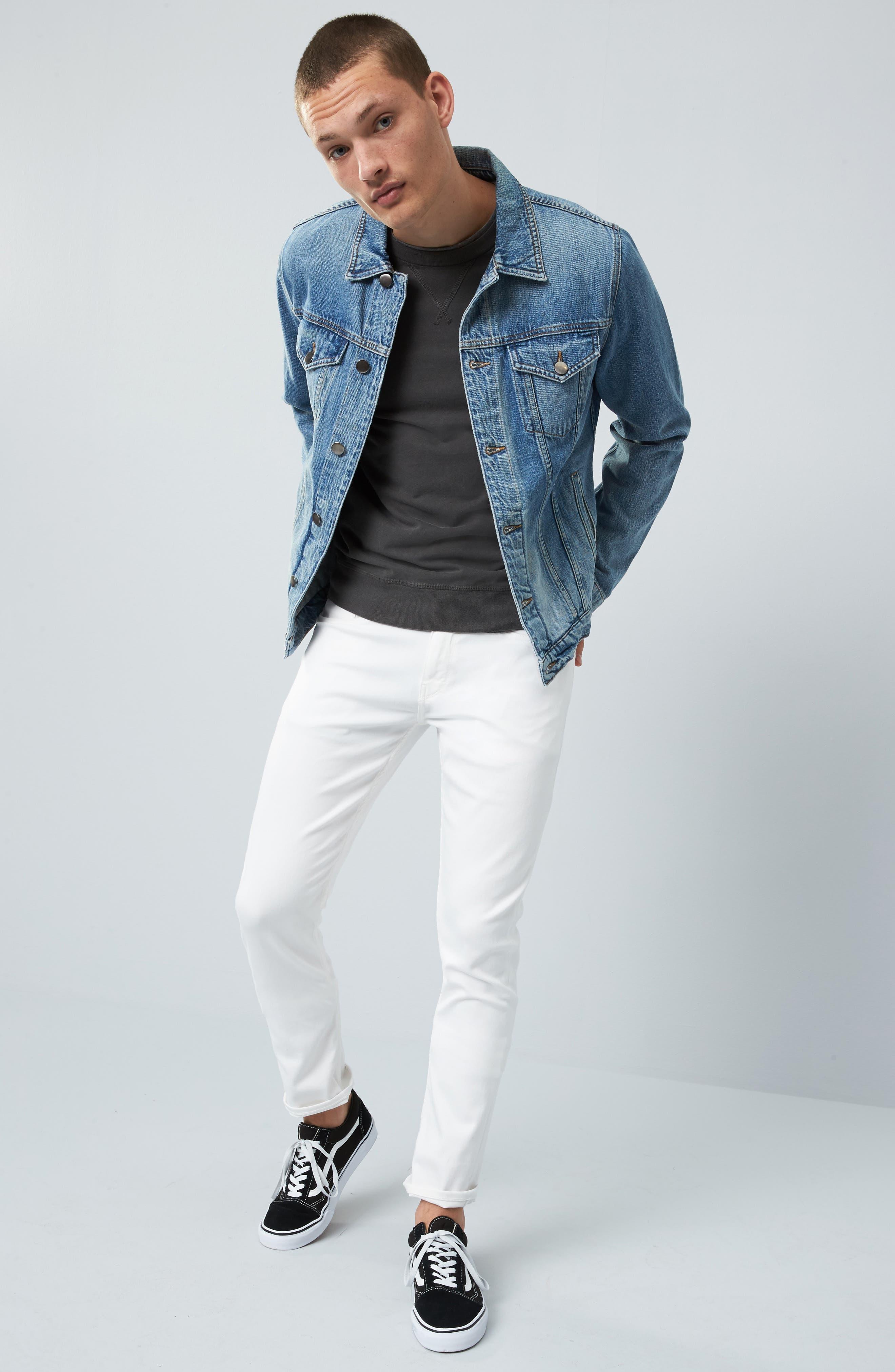 PAIGE, Transcend - Lennox Slim Fit Jeans, Alternate thumbnail 8, color, ICECAP