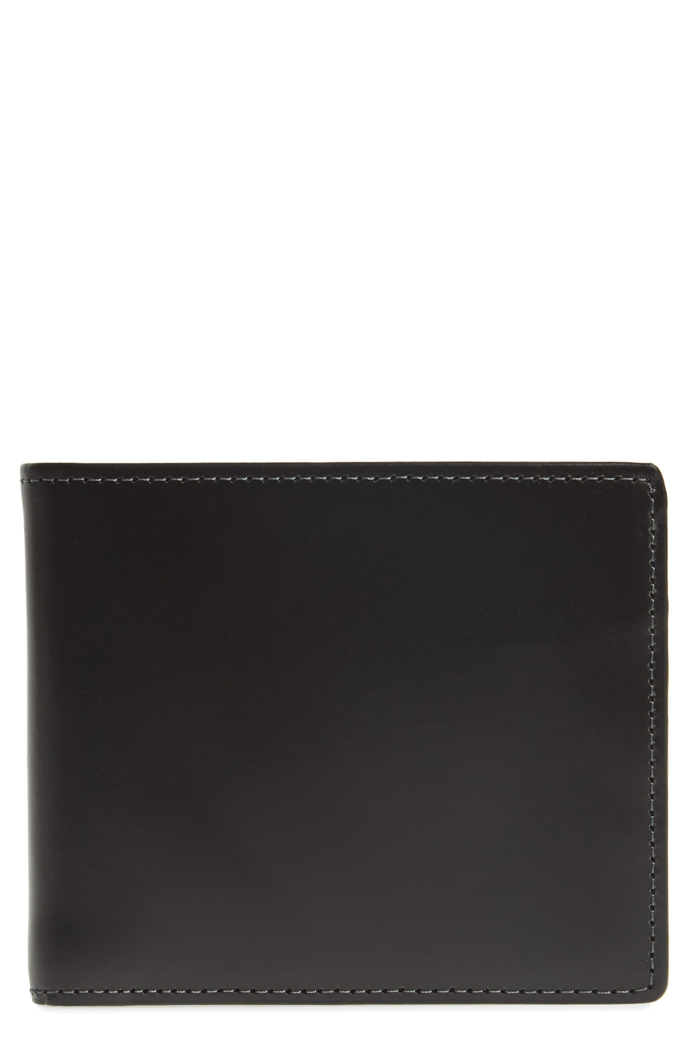 NORDSTROM MEN'S SHOP, Wyatt RFID Leather Wallet, Main thumbnail 1, color, BLACK