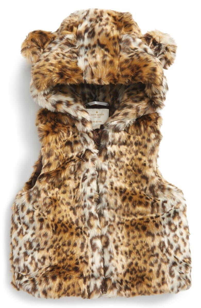 ef4cc7800e1d kate spade new york faux fur hooded vest (Toddler Girls & Little ...