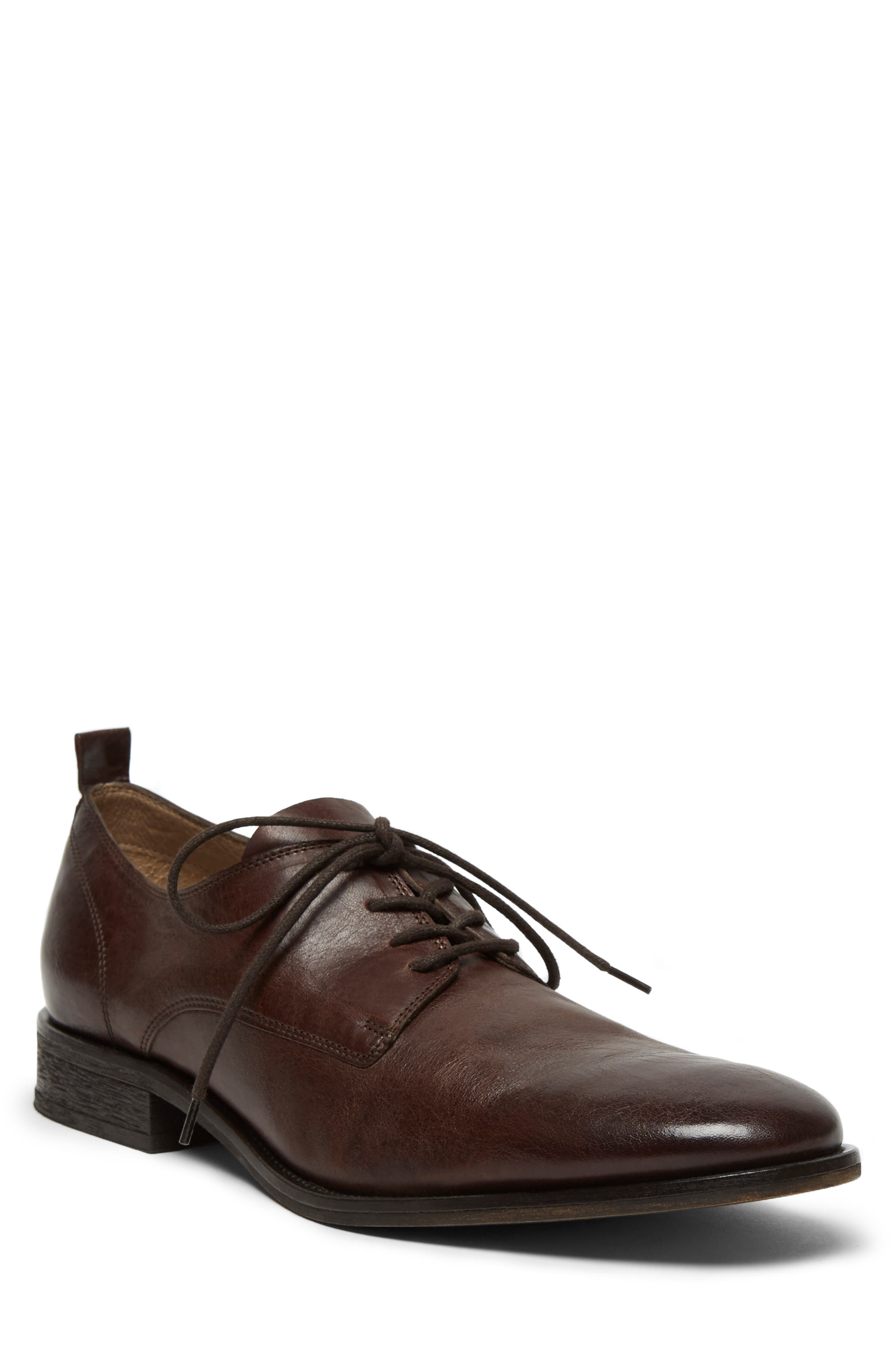 KENNETH COLE NEW YORK, Indio Plain Toe Derby, Main thumbnail 1, color, BROWN LEATHER