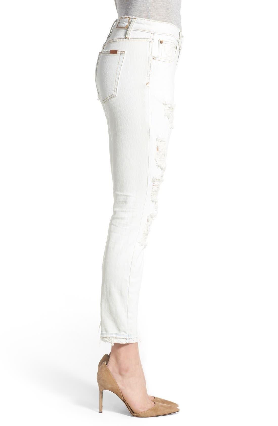 JOE'S, 'Collector's - Billie' Ankle Slim Boyfriend Jeans, Alternate thumbnail 3, color, 100