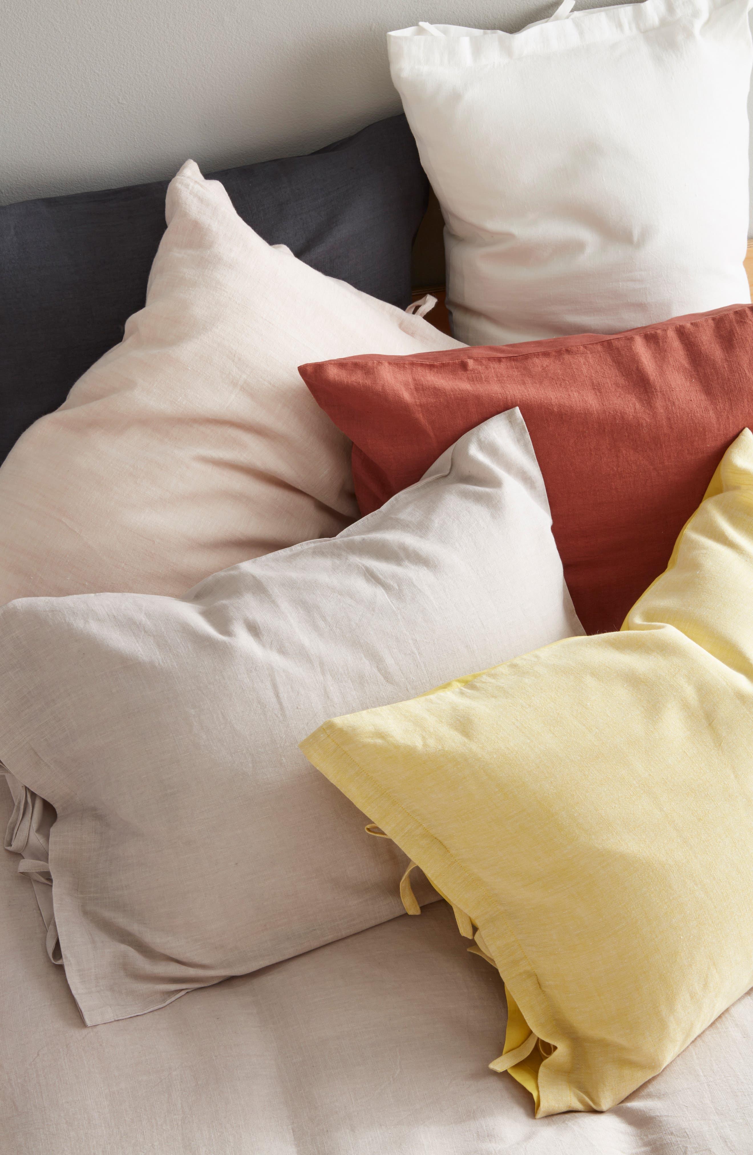 TREASURE & BOND, Relaxed Cotton & Linen Sham, Alternate thumbnail 5, color, GREY ONYX