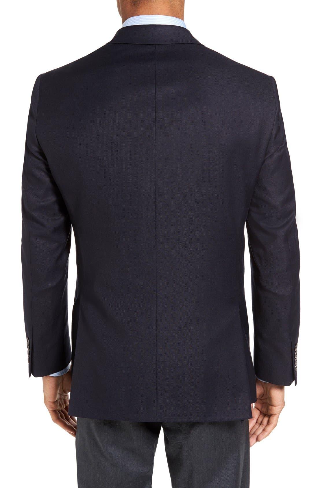 HART SCHAFFNER MARX, New York Classic Fit Wool Blend Blazer, Alternate thumbnail 9, color, NAVY