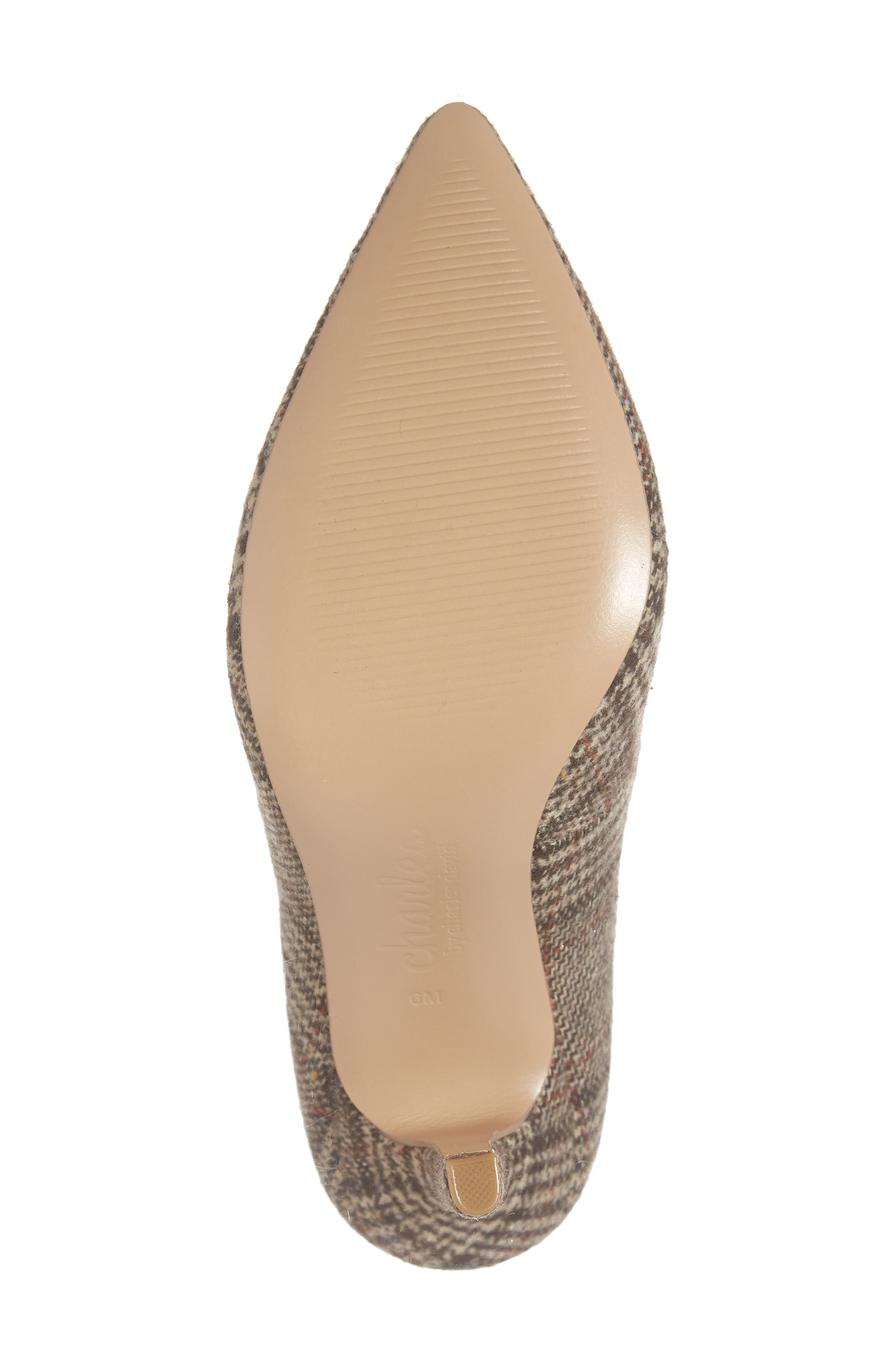 CHARLES BY CHARLES DAVID, Maxx Pointy Toe Pump, Alternate thumbnail 6, color, BROWN PLAID FABRIC