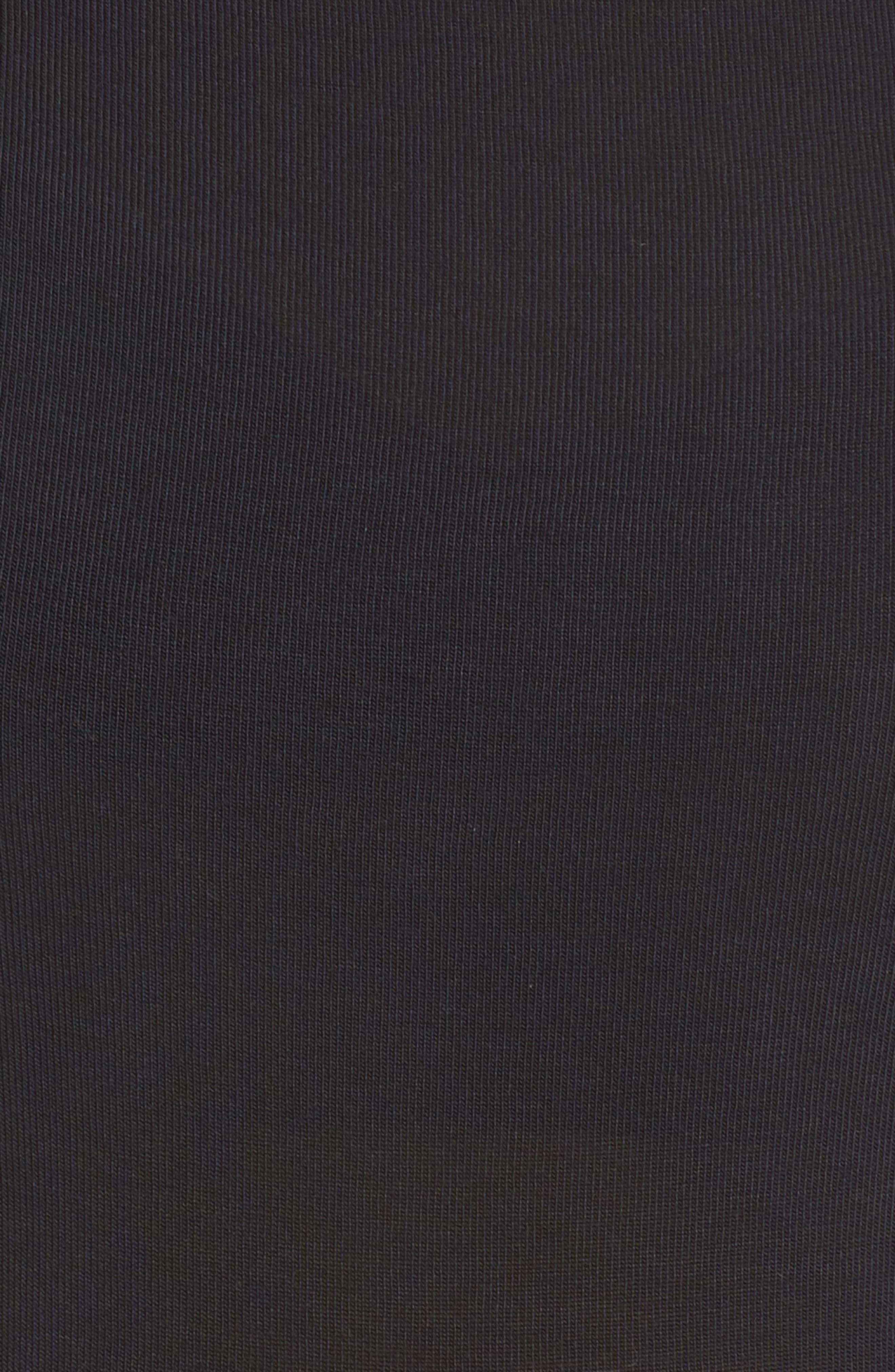 ALO, Barre Long Sleeve Top, Alternate thumbnail 6, color, BLACK