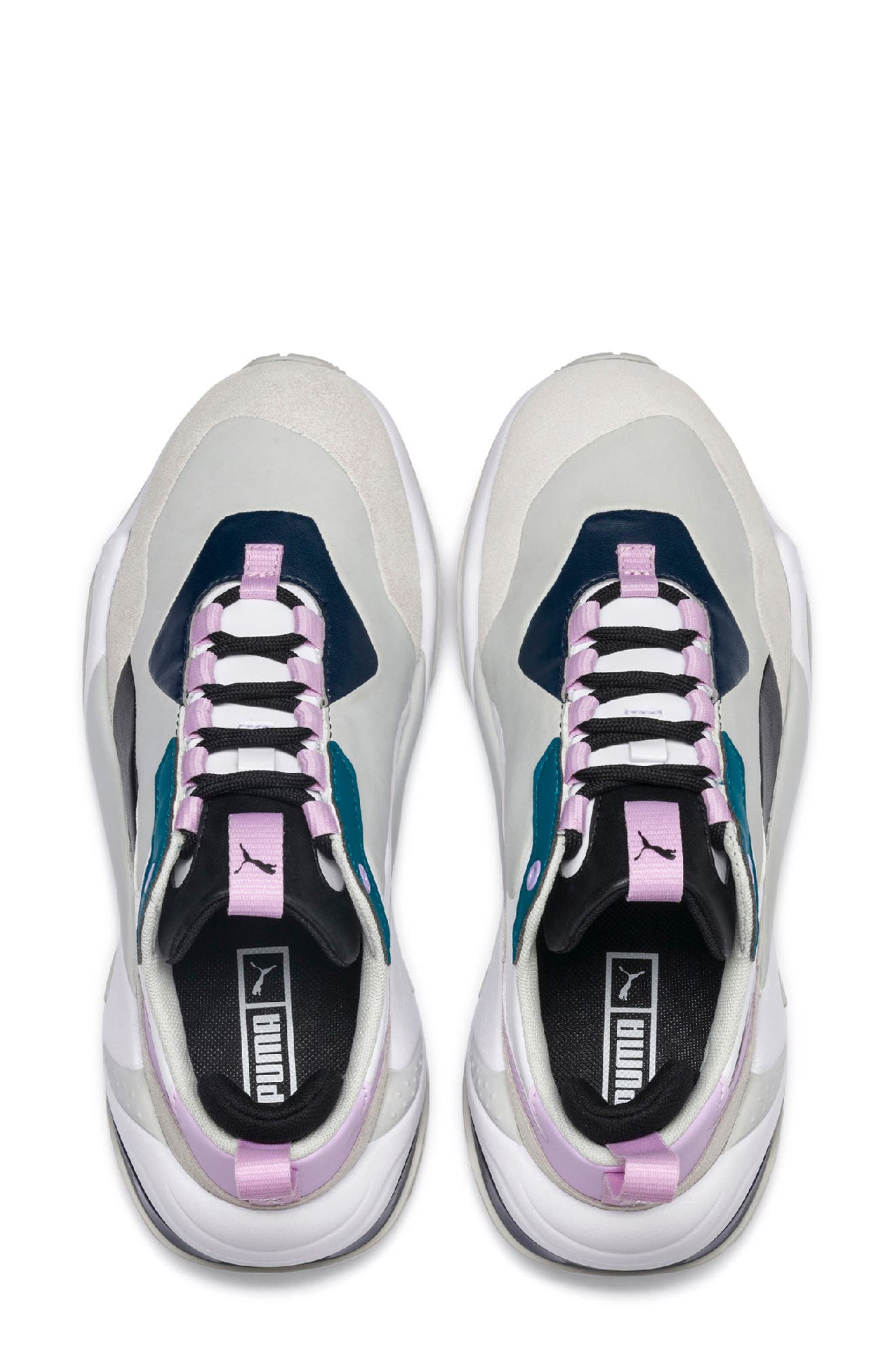 PUMA, Thunder Electric Sneaker, Alternate thumbnail 4, color, DEEP LAGOON/ ORCHID BLOOM