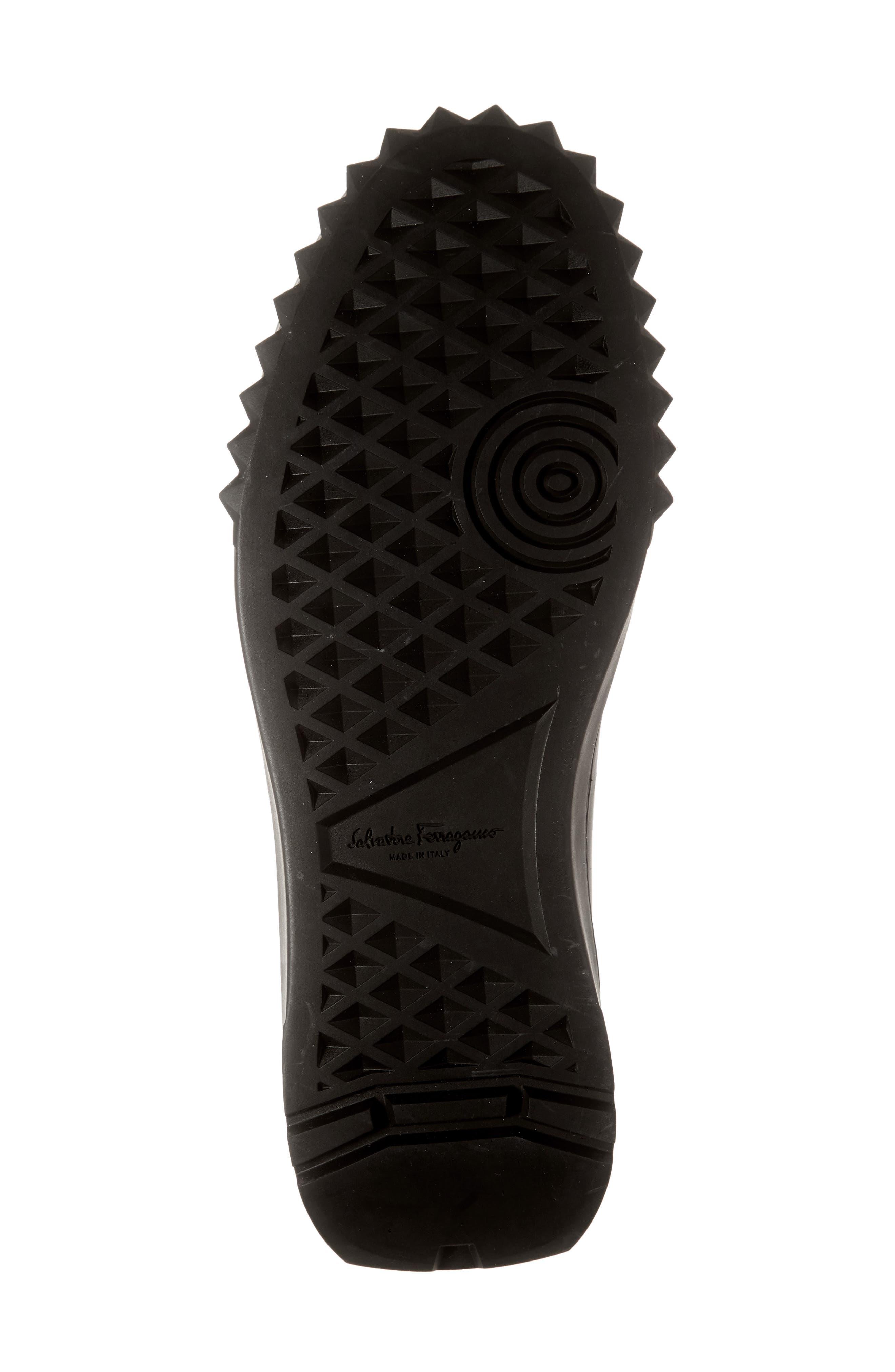 SALVATORE FERRAGAMO, Cube Sneaker, Alternate thumbnail 6, color, NERO/BLACK