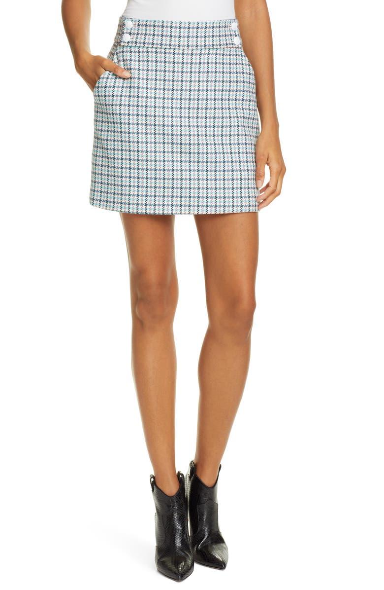 Veronica Beard Skirts AREZZO HOUNDSTOOTH STRETCH COTTON SKIRT