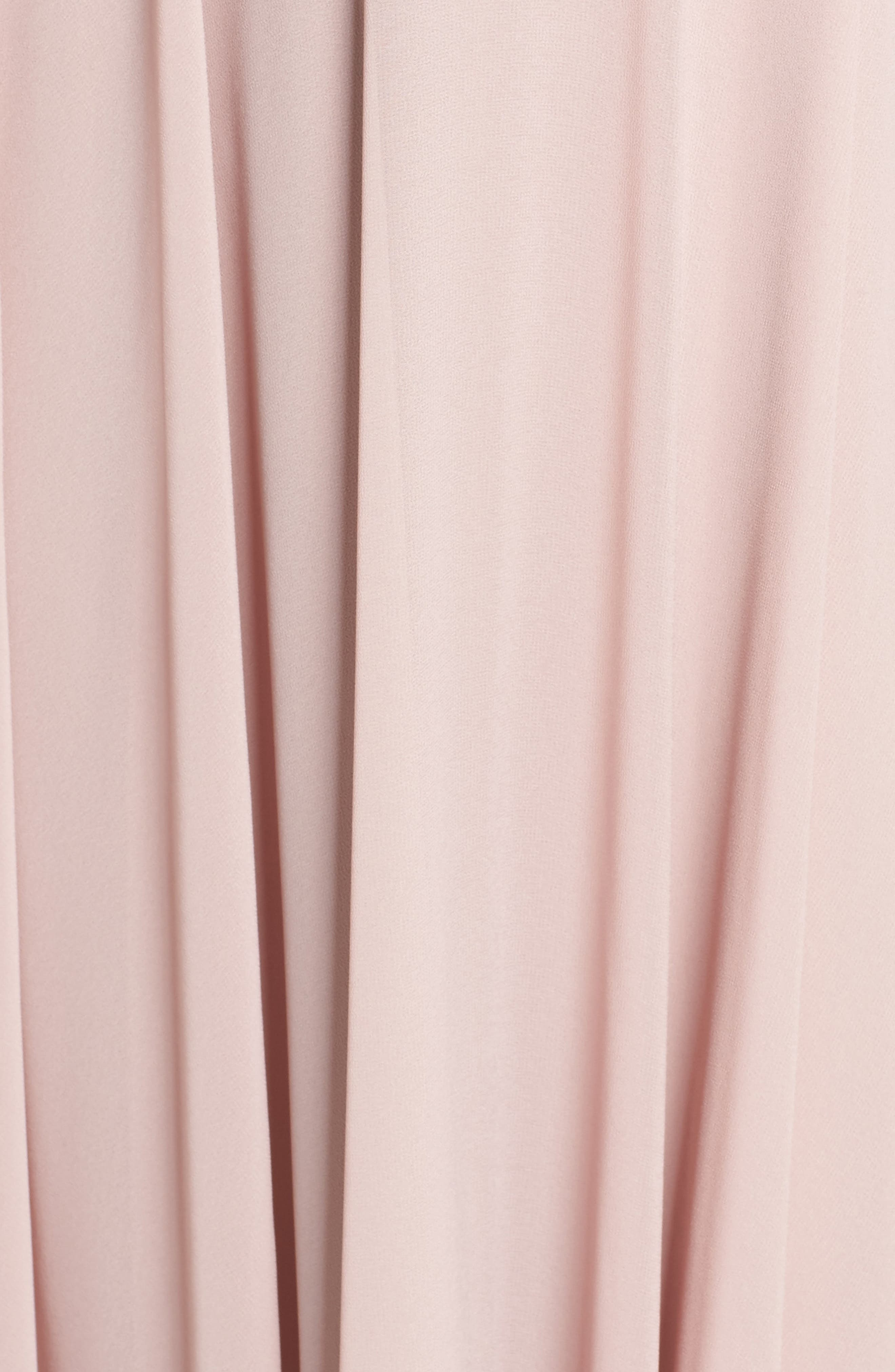 HAYLEY PAIGE OCCASIONS, Ruffle Chiffon Gown, Alternate thumbnail 6, color, DUSTY ROSE