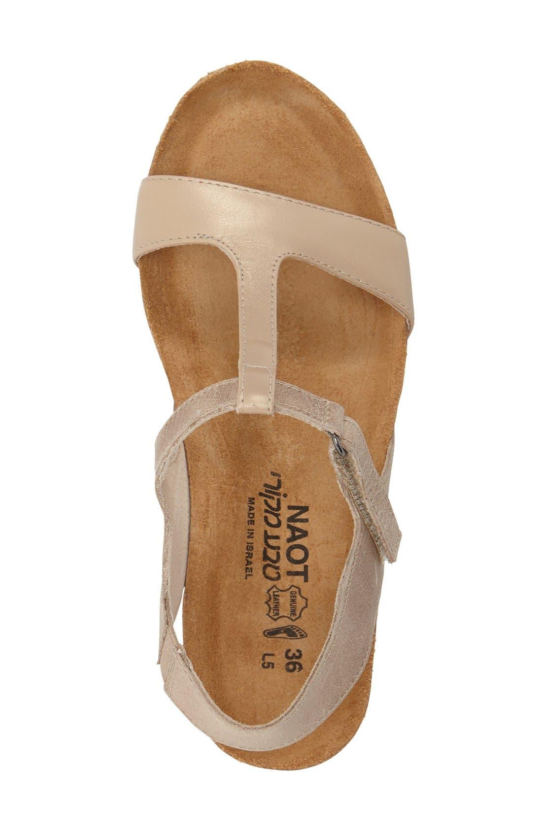 NAOT, 'Unicorn' T-Strap Sandal, Alternate thumbnail 4, color, 250