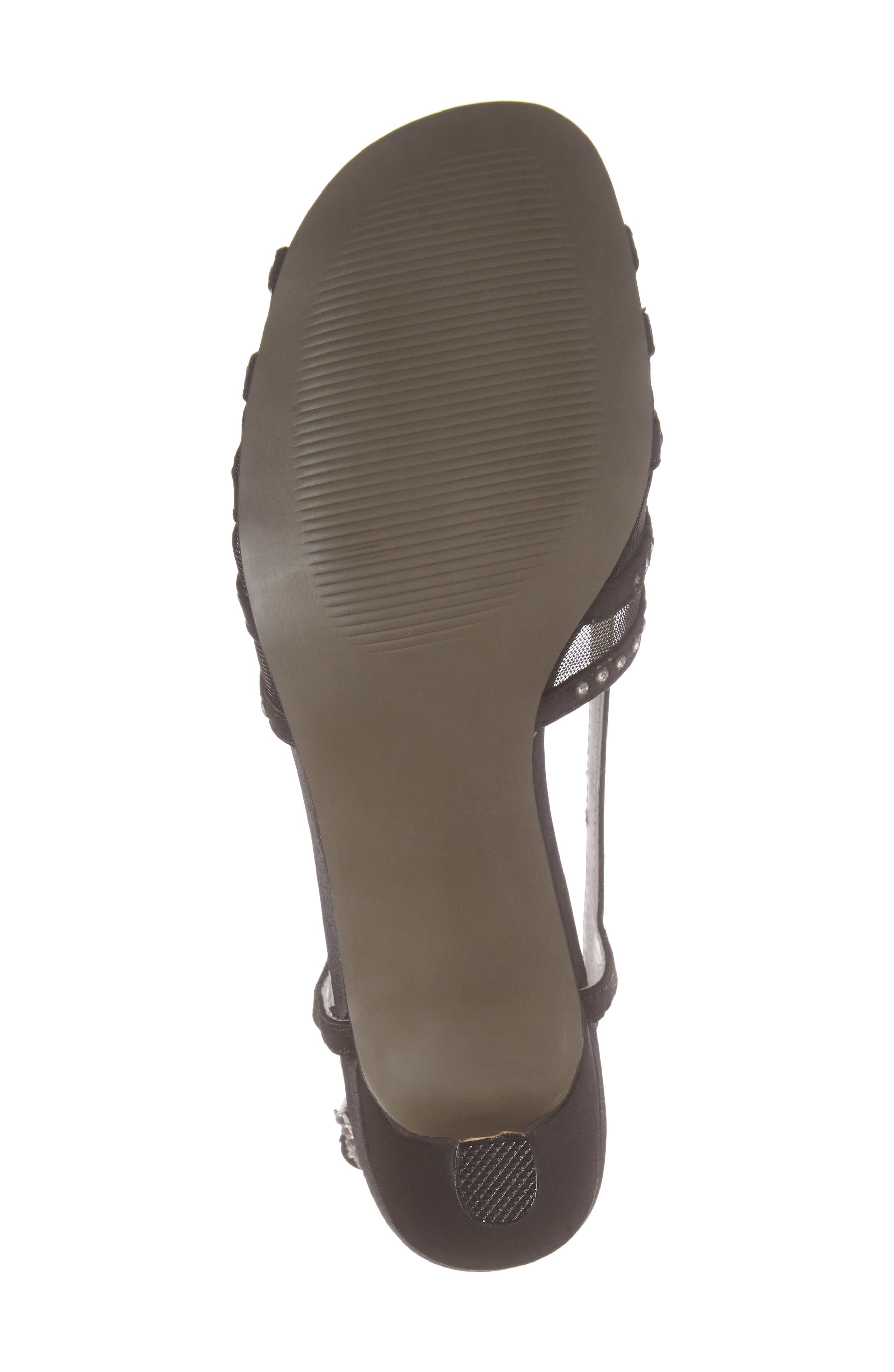 DAVID TATE, Sizzle Slingback Sandal, Alternate thumbnail 6, color, BLACK